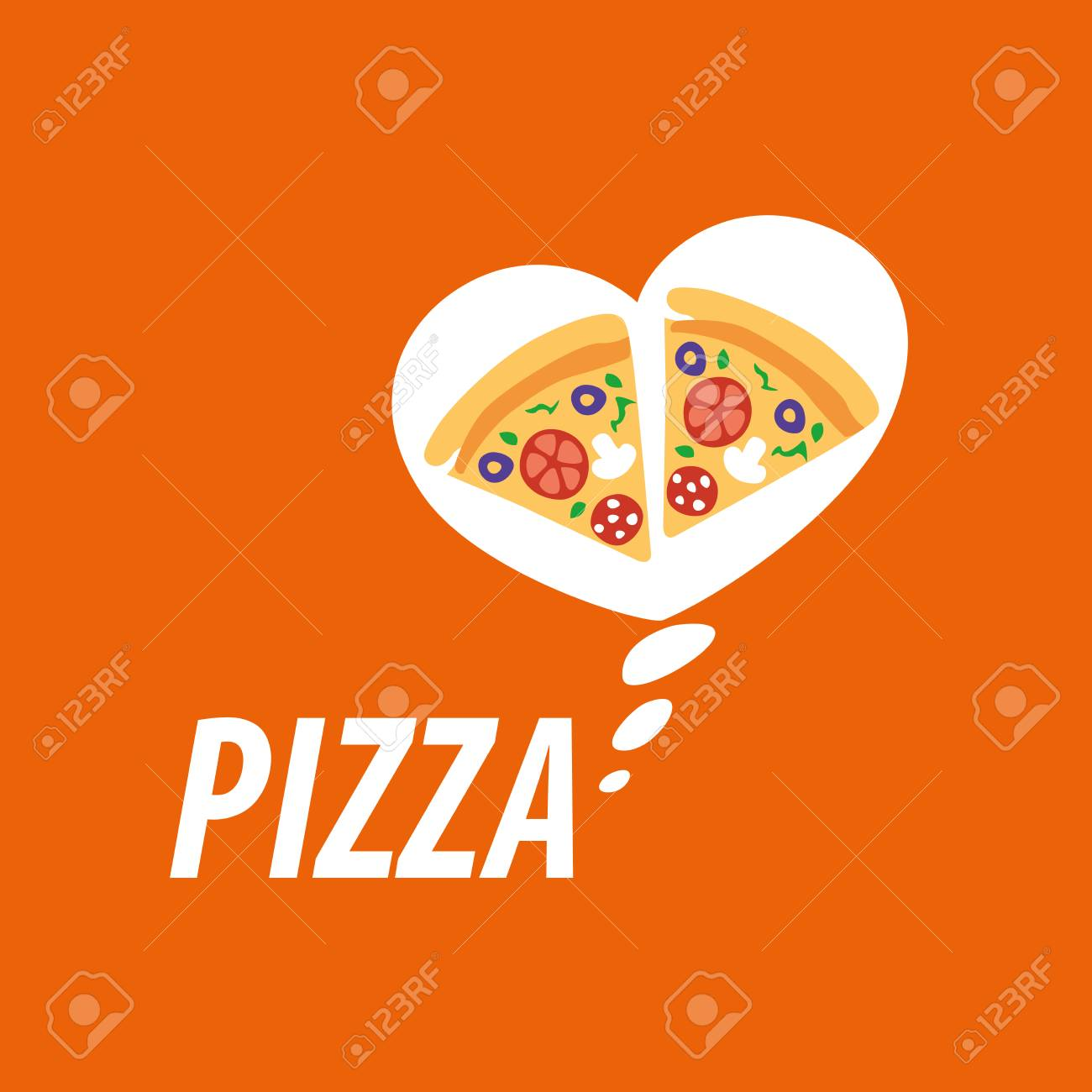 Pizza Template Design Vector Illustration Of Icon Royalty Free