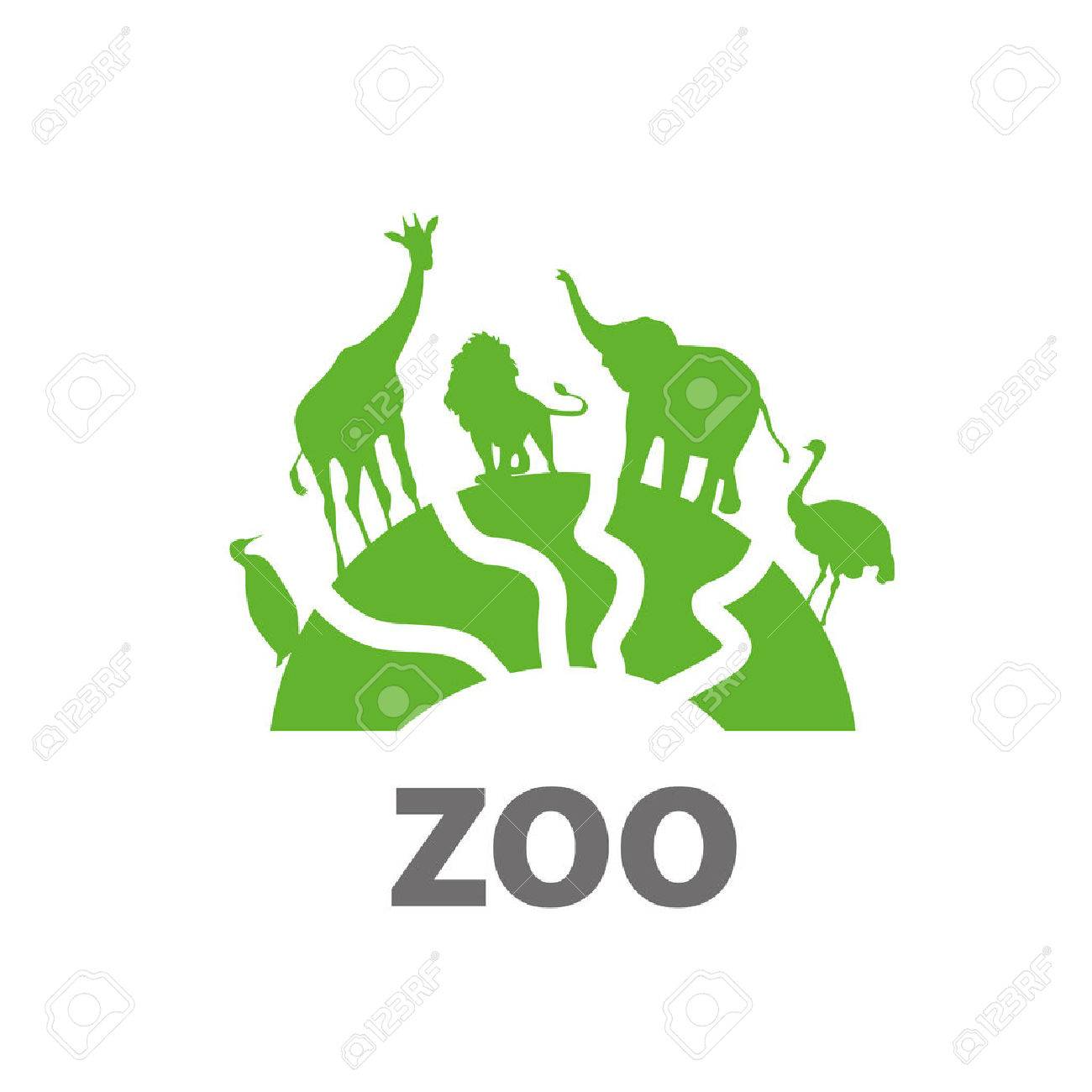 template design logo zoo vector illustration of icon royalty free