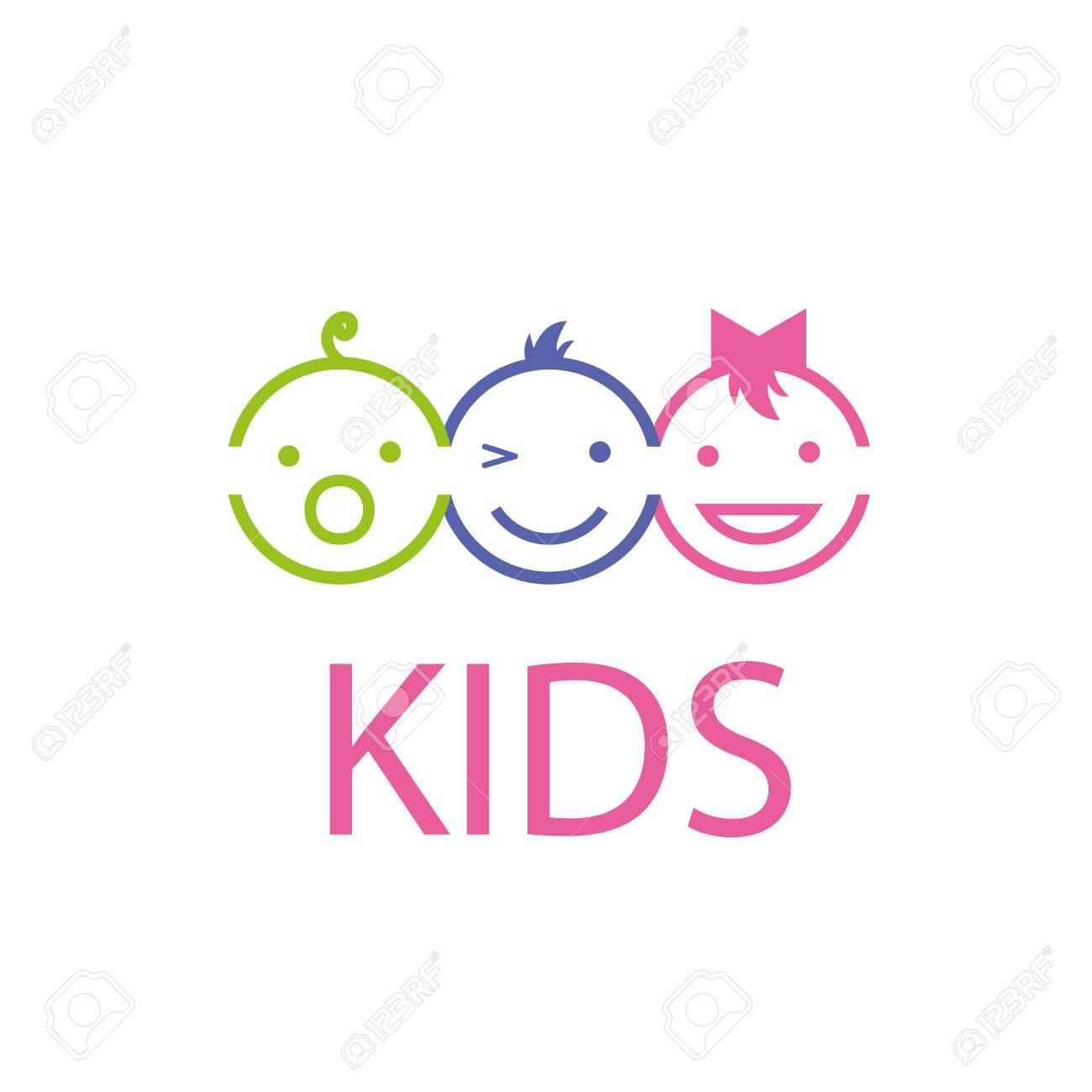Template design logo kids. Vector illustration of icon - 67324935