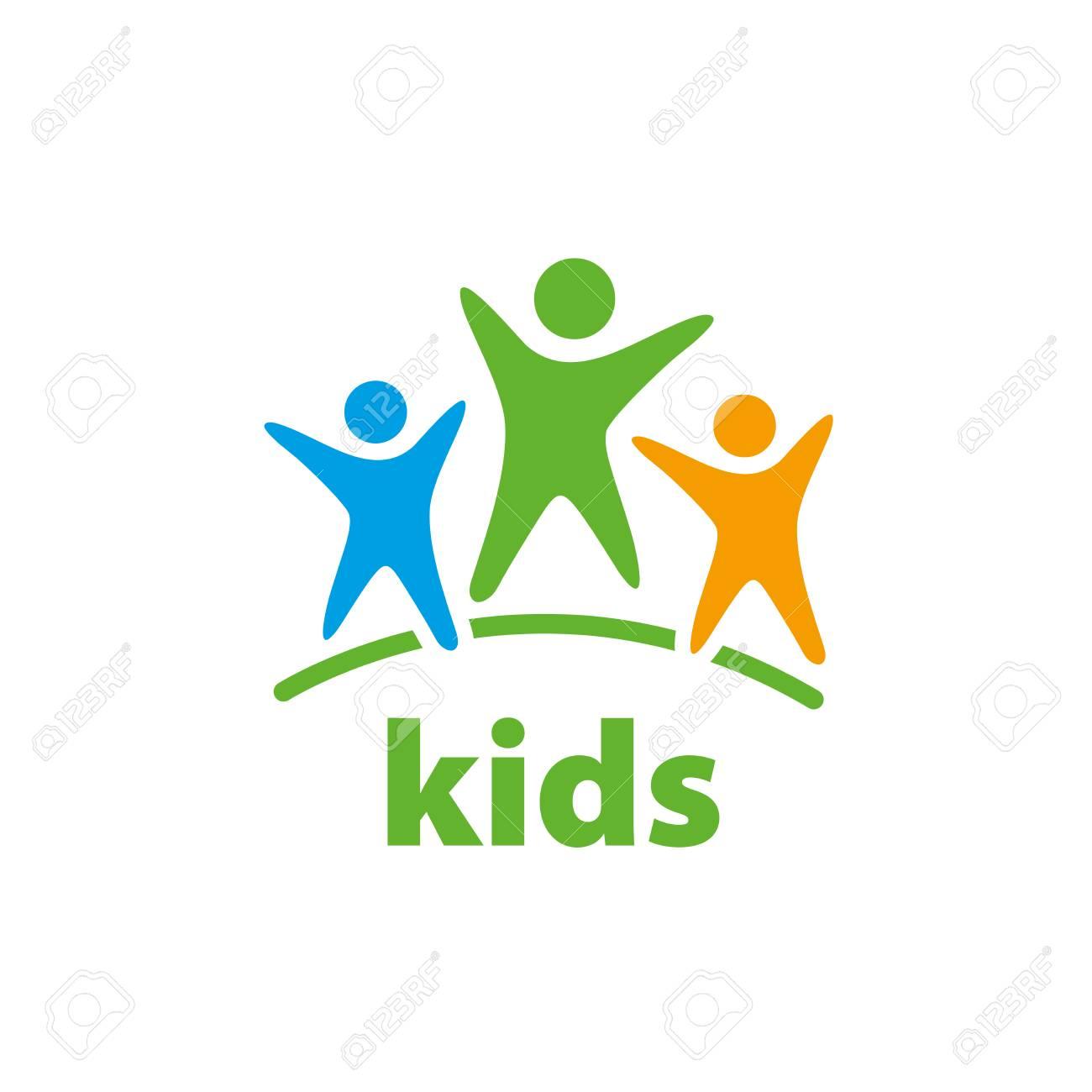 Template design logo kids. Vector illustration of icon - 67324941