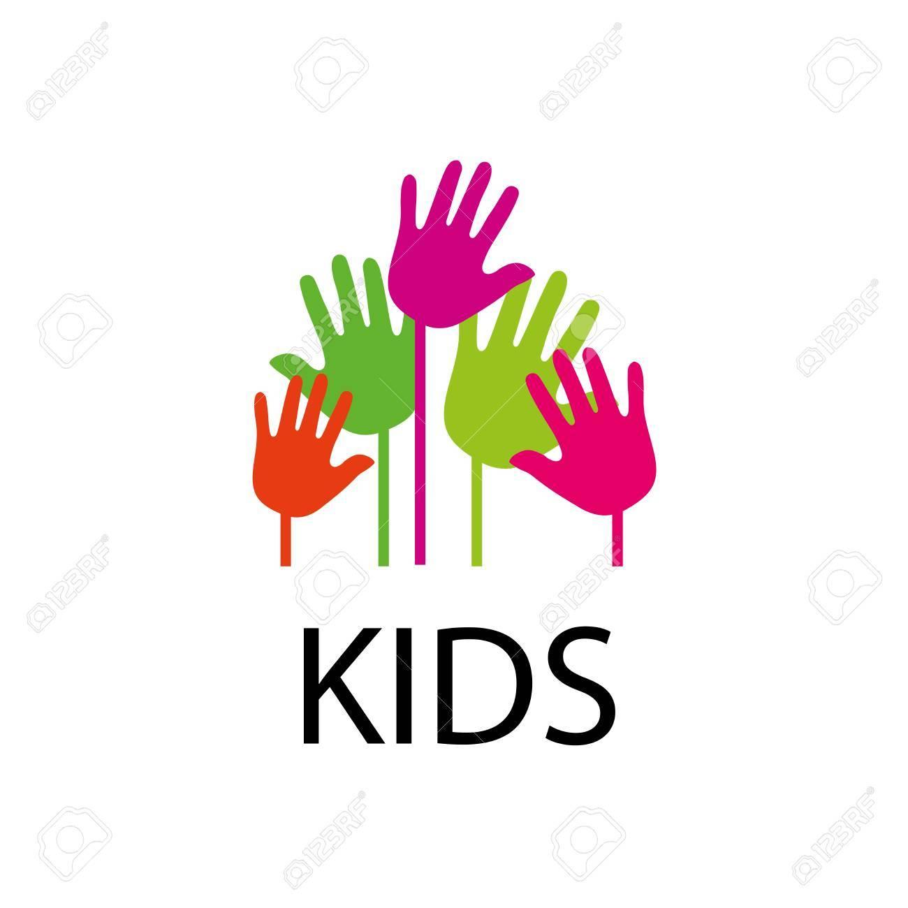 Diseño De Los Niños Del Logotipo De La Plantilla. Ilustración Del ...