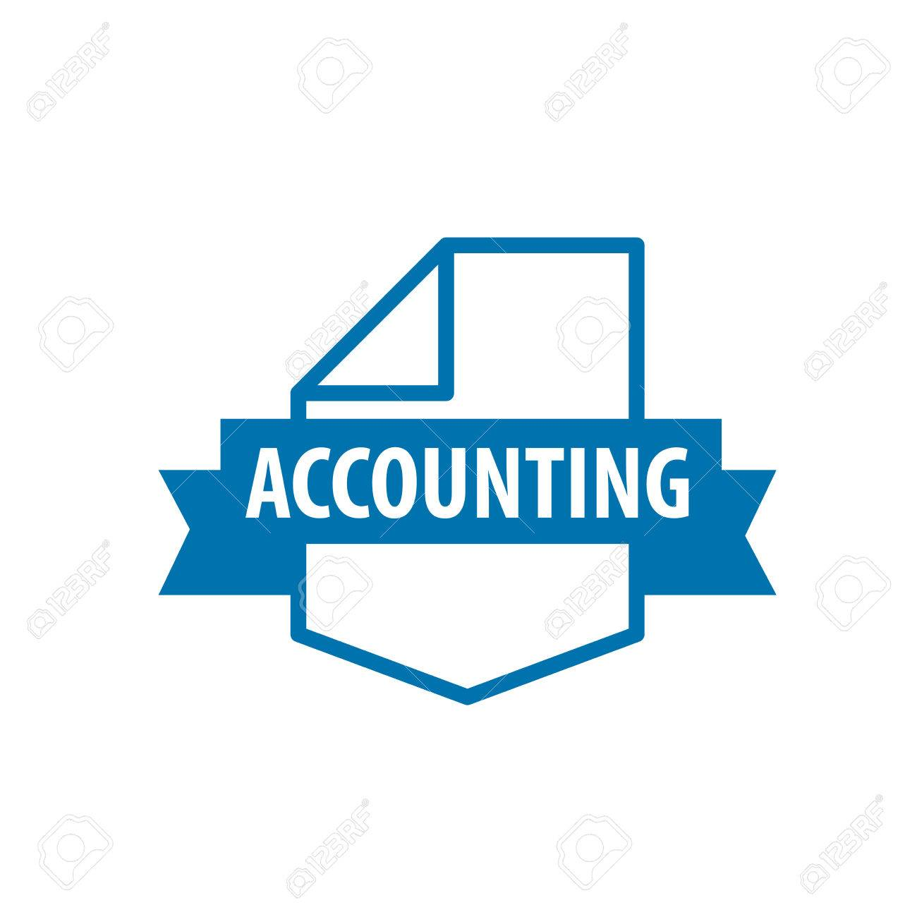 Template Design Logo Accounting. Vector Illustration Of Icon Royalty ...