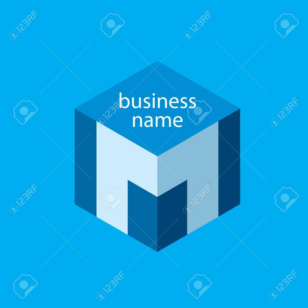 Logotipo Del Cubo Elementos De Plantilla Icono Del Diseño De La ...