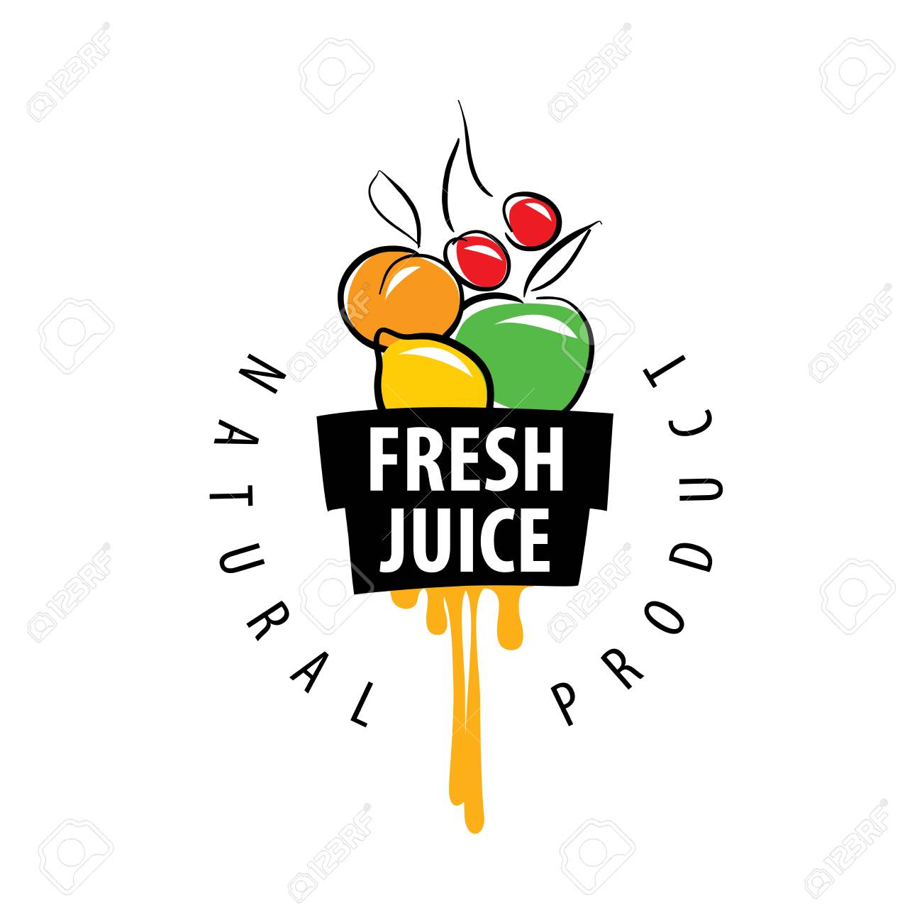 logo design template fresh juice vector illustration of icon royalty free cliparts vectors and stock illustration image 67425612 logo design template fresh juice vector illustration of icon