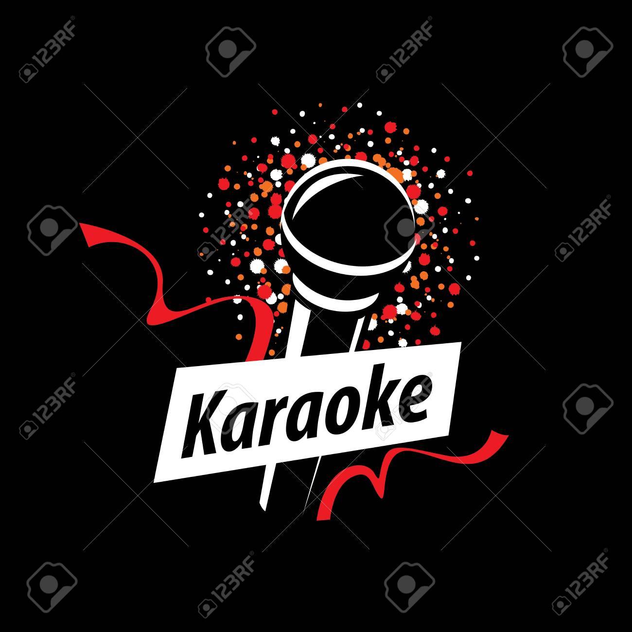 template design logo karaoke vector illustration of icon royalty