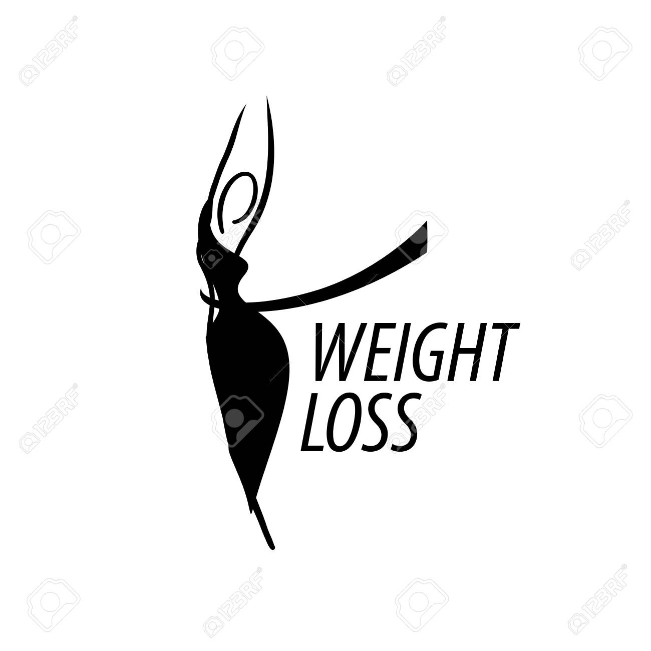 template design logo weight loss vector illustration of icon