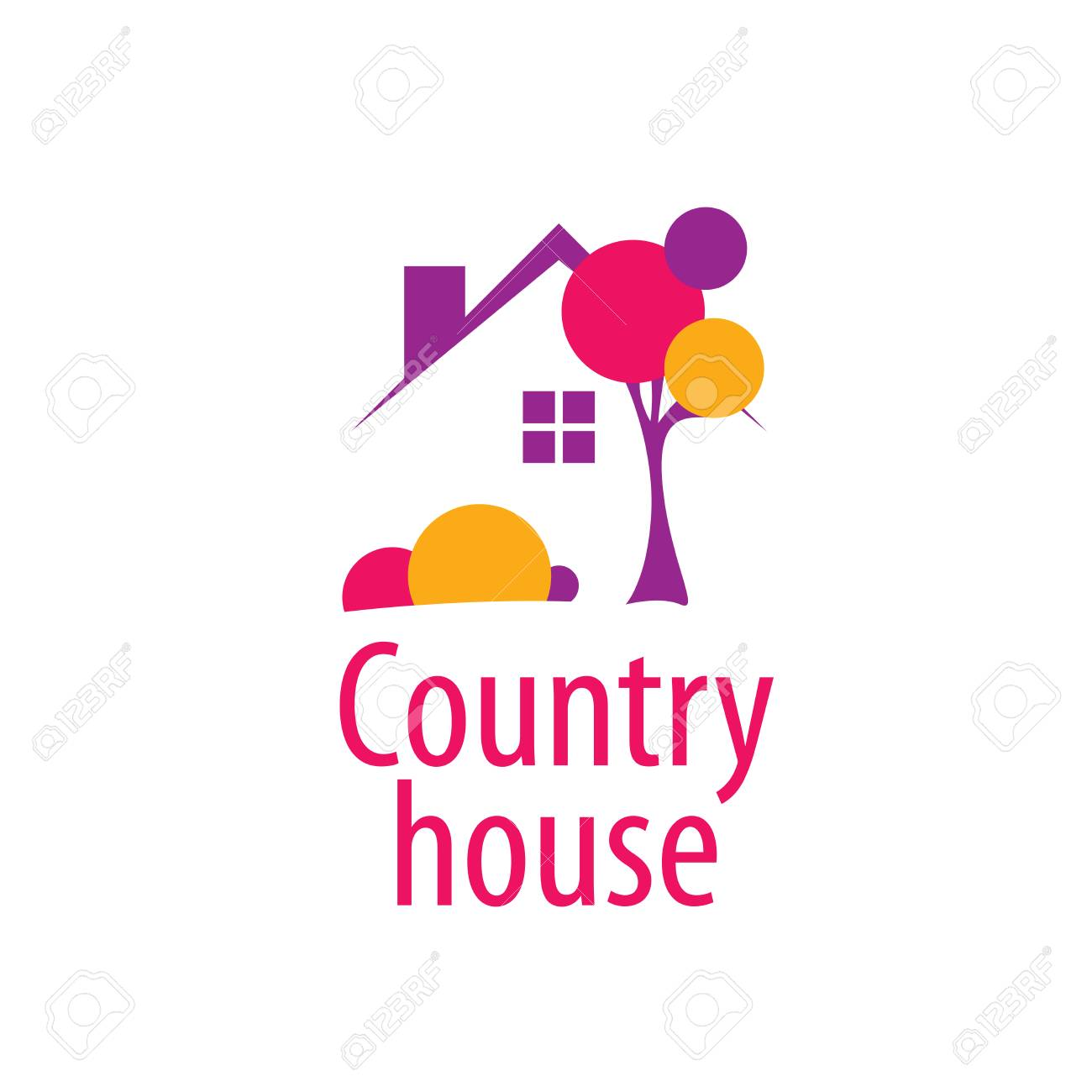 template design logo country house vector illustration of icon rh 123rf com house vector illustration house vector art
