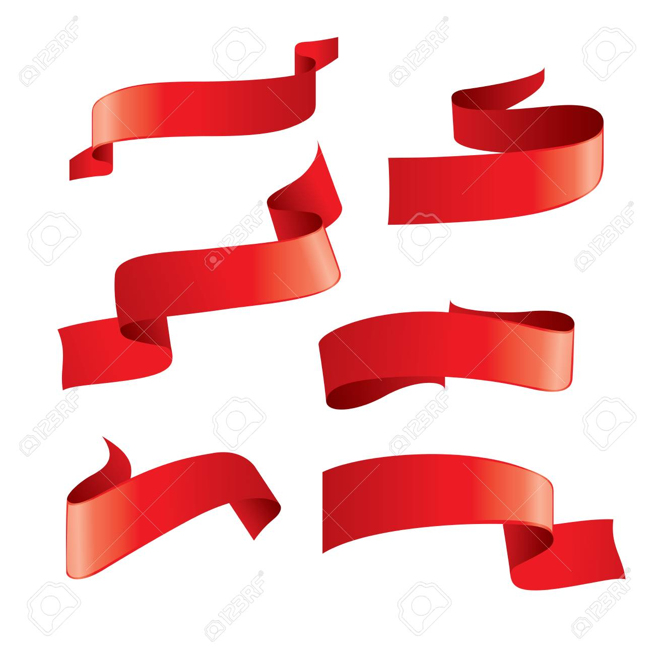 set of red vector ribbons stock photo picture and royalty free rh 123rf com victor ribbons victor ribbons little league