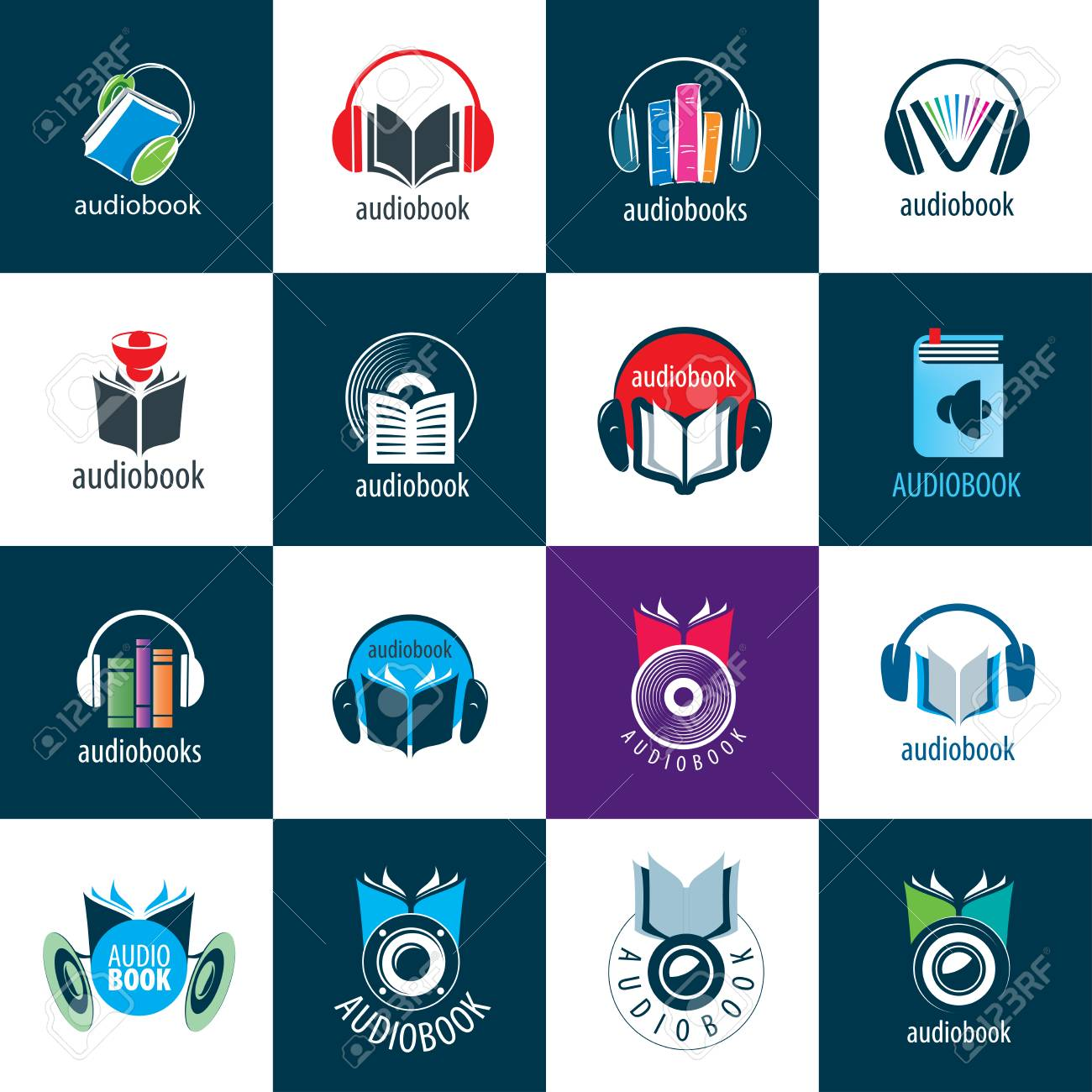 Livre Audio Modele De Logo Vectoriel