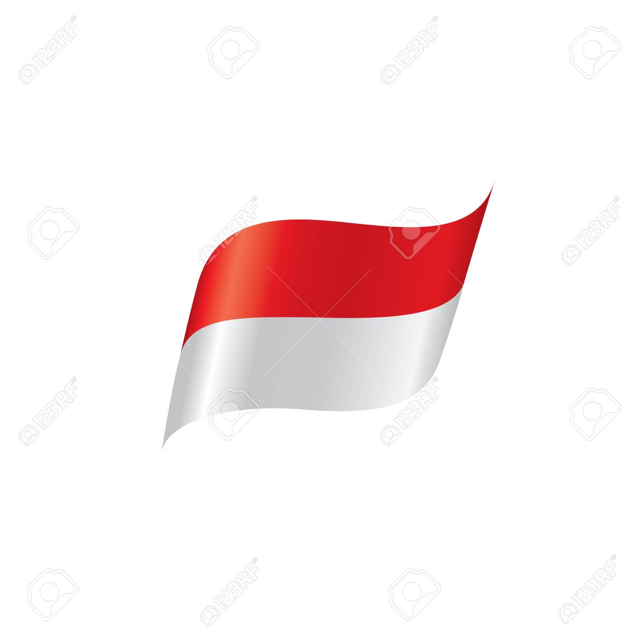 Indonesia flag, vector illustration on a white background. - 92804936