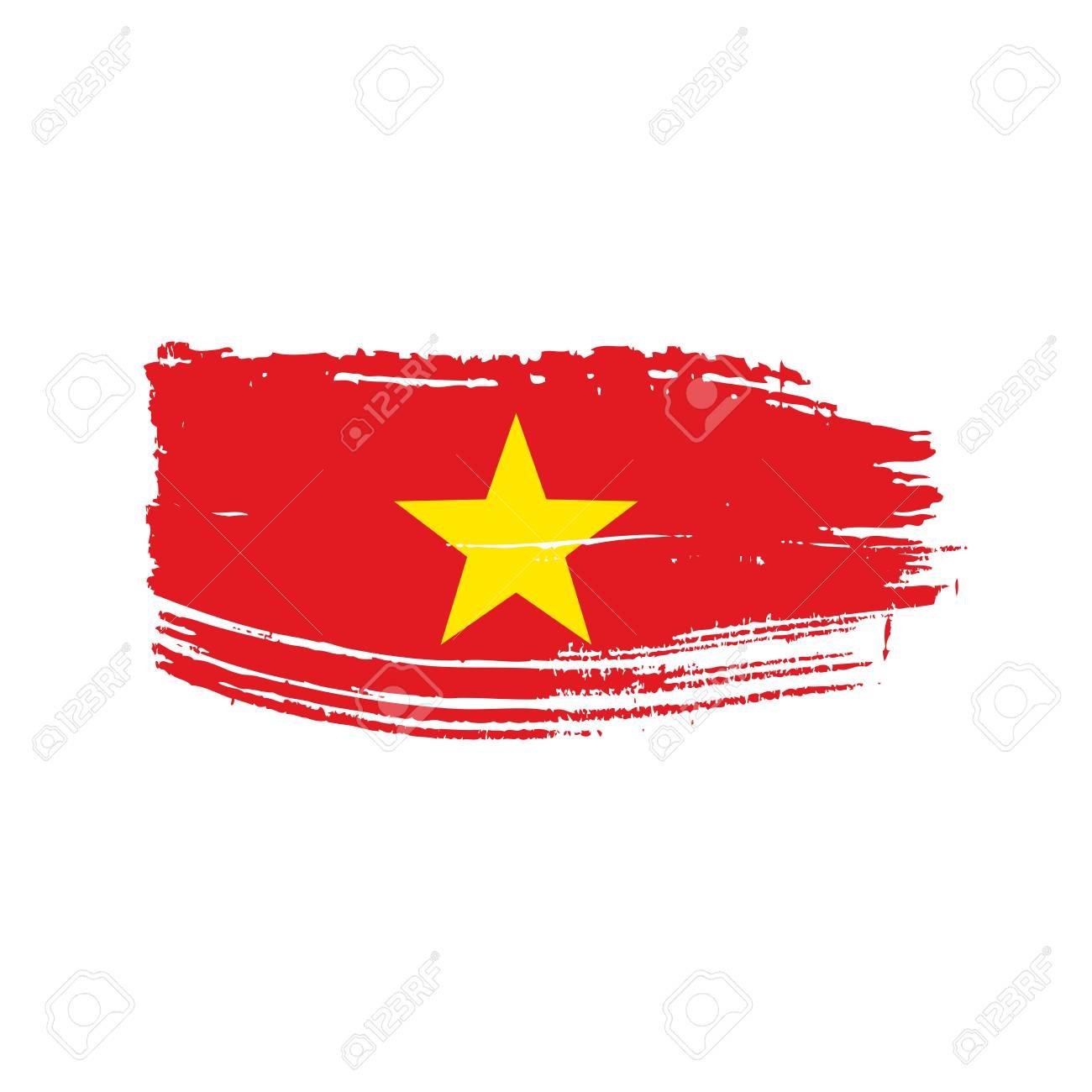 Vietnam flag icon illustration  Isolated on white background