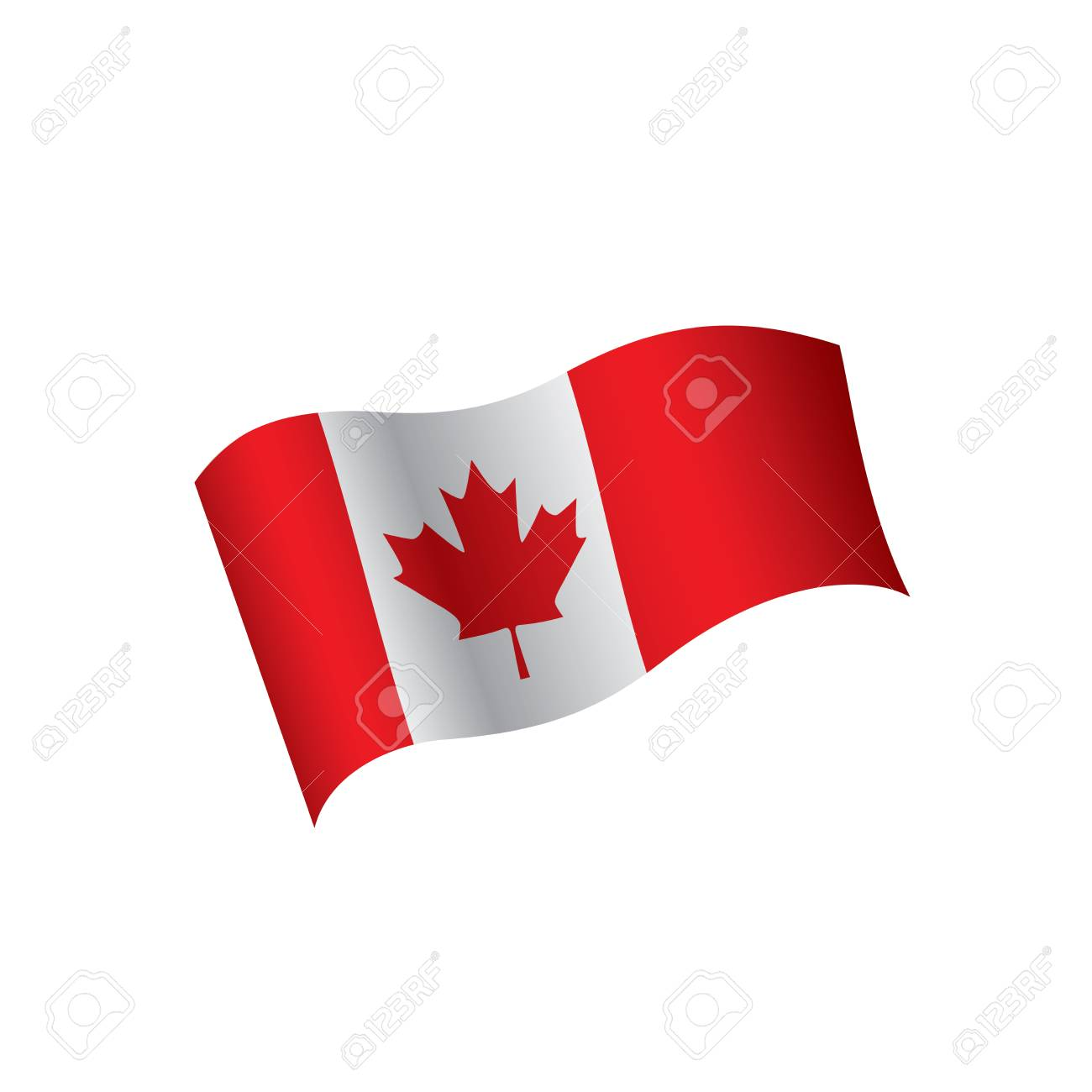 canada flag vector illustration on a white background royalty free rh 123rf com canadian flag vectors free canada flag vector logo