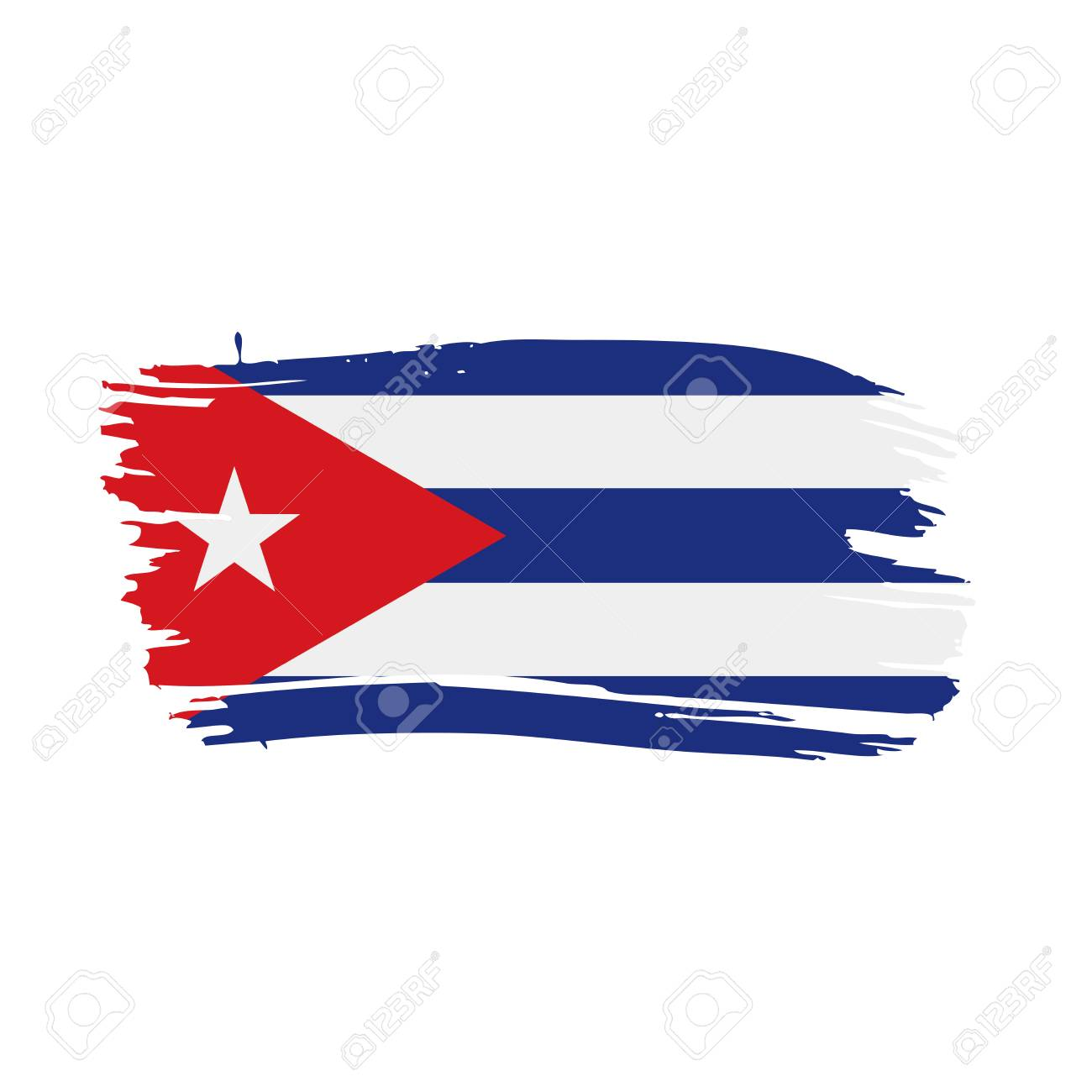Cuba Flag, Vector Illustration On A White Background Stock Vector   94296808