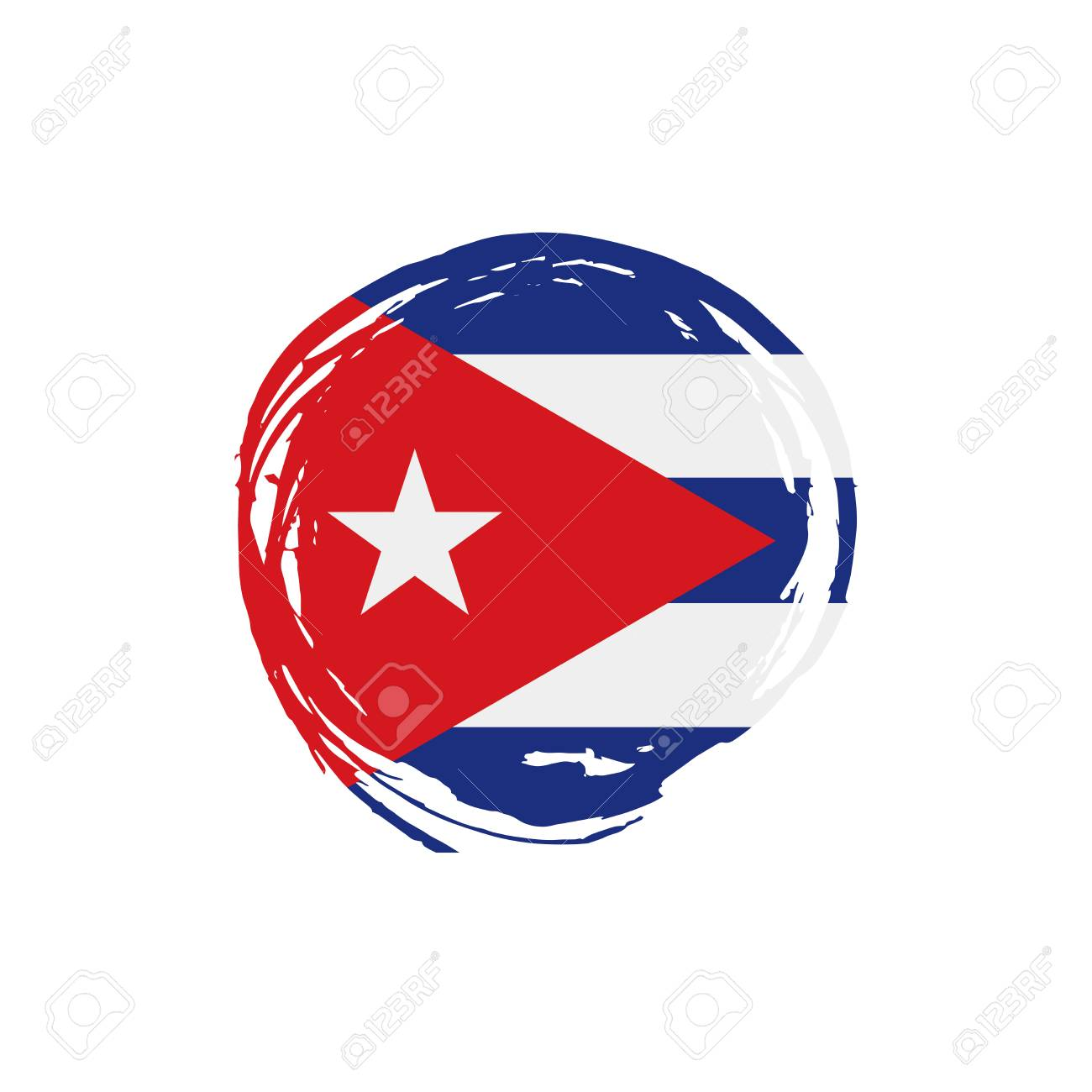 Cuba Flag, Vector Illustration On A White Background Stock Vector   94296880