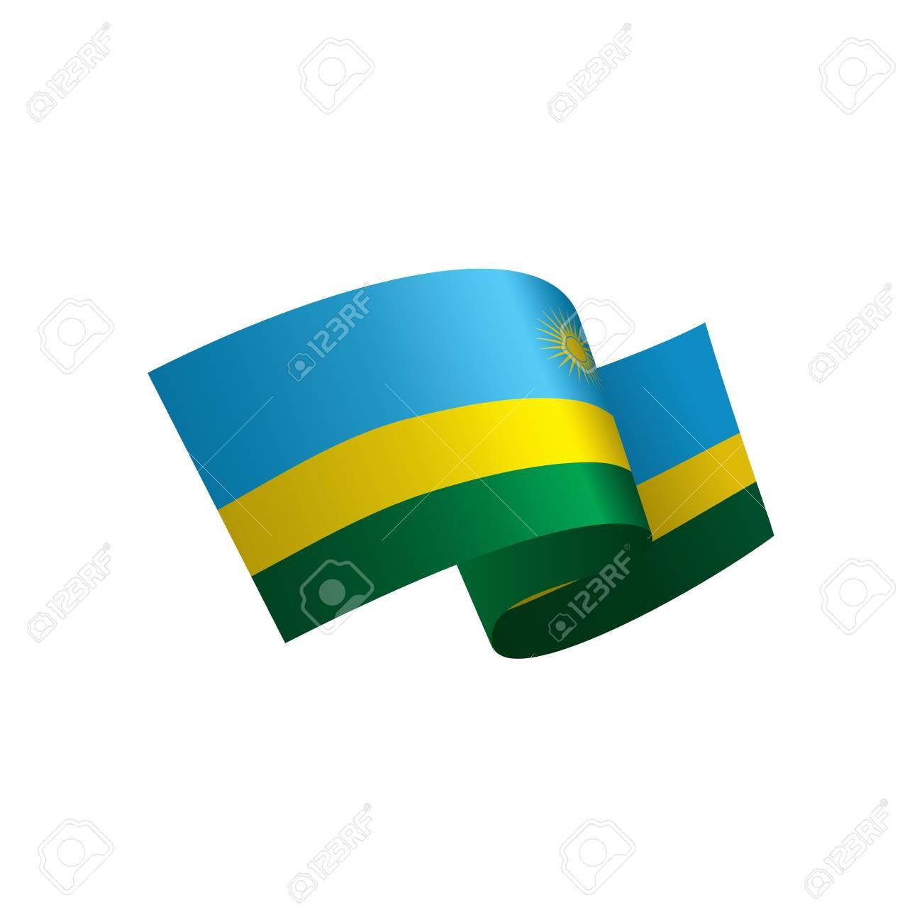 Rwanda Flag Vector Illustration On A White Background Royalty - Rwanda flag