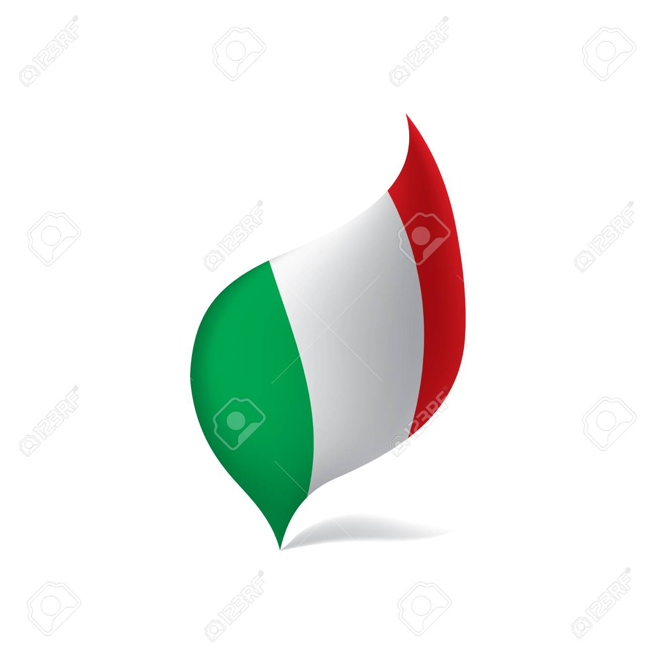 Italy flag, vector illustration - 95200499