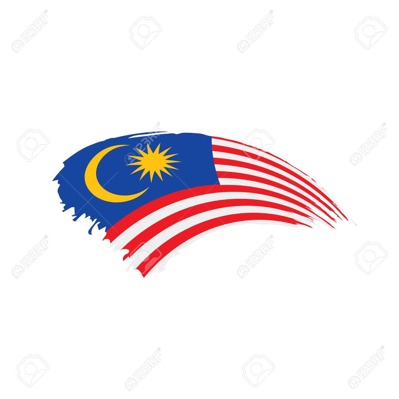 Malaysia flag, vector illustration - 96312647