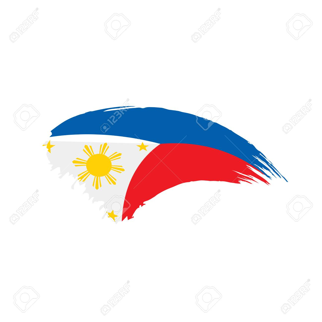Philippines Flag Vector Illustration Royalty Free Cliparts Vectors And Stock Illustration Image 97132191 You can download, edit these vectors for personal use for your presentations, webblogs, or other project designs. philippines flag vector illustration