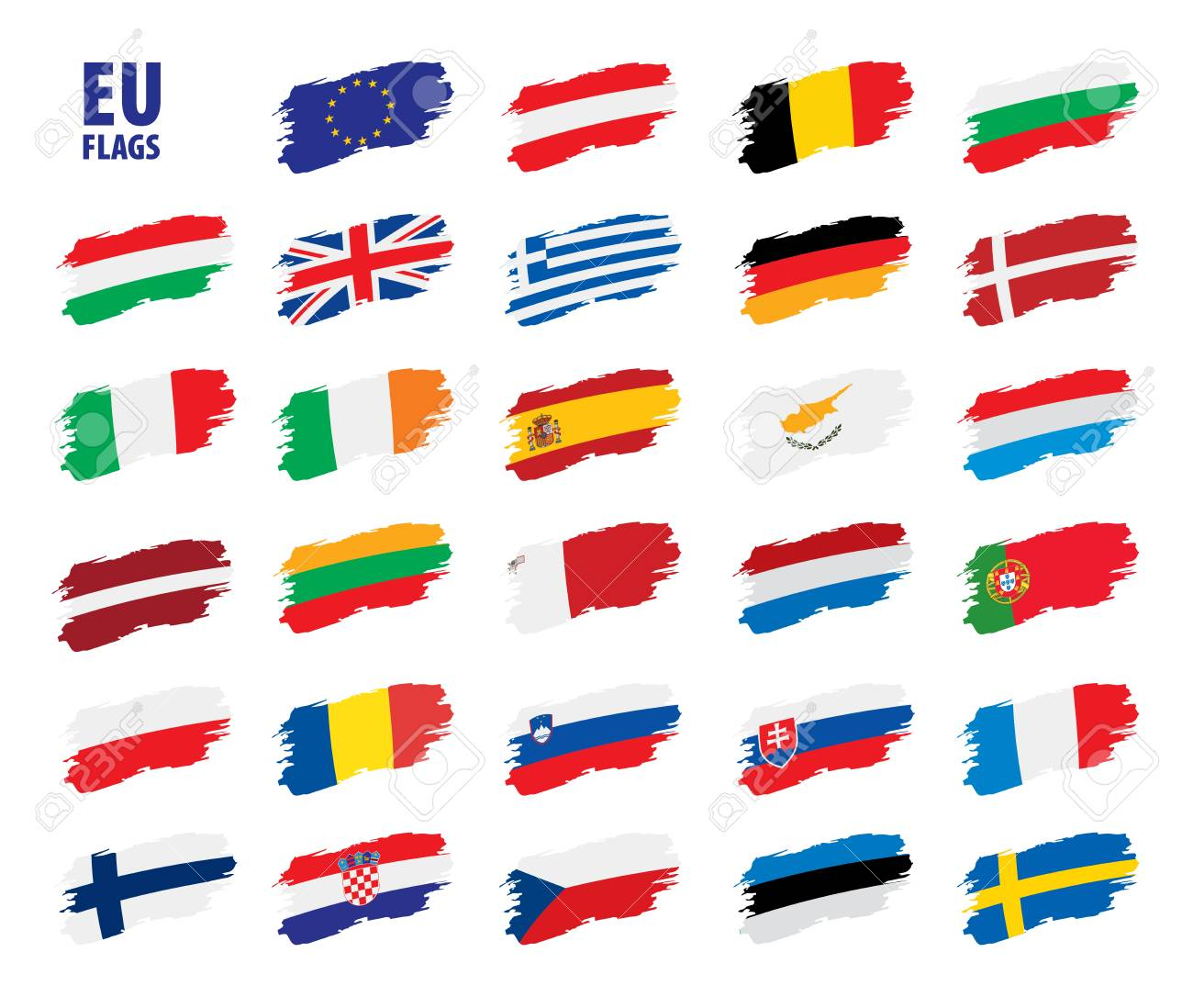 flags of the european union - 97324626