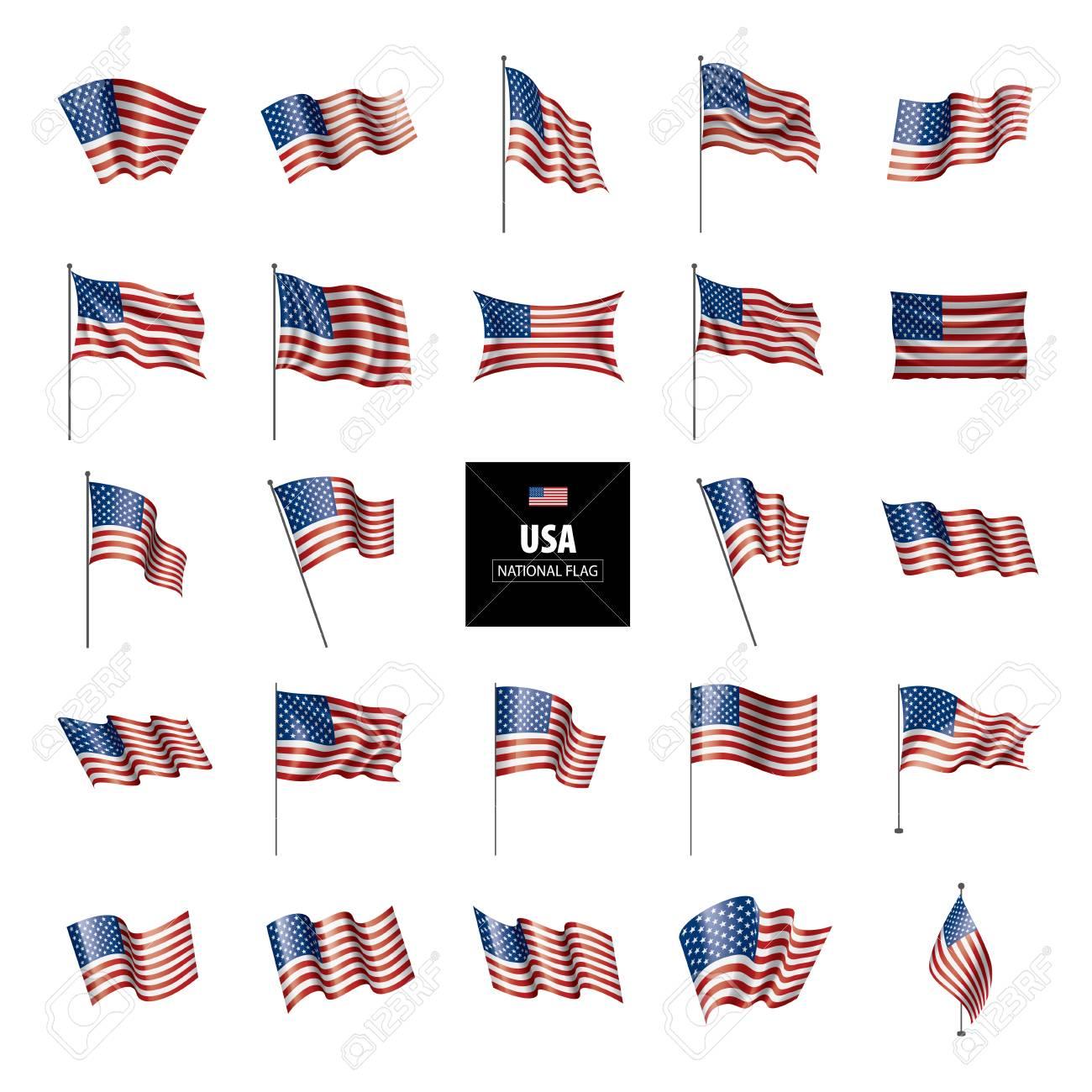 USA flag, vector illustration on a white background - 105843762