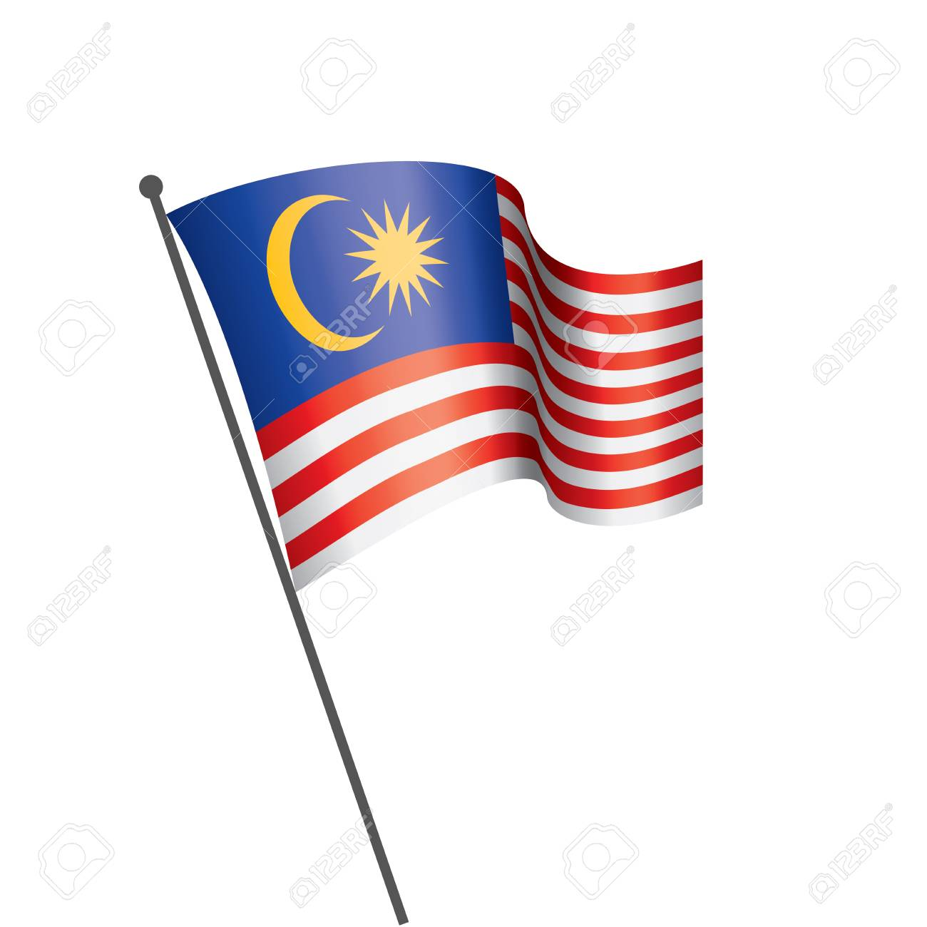 Malaysia flag, vector illustration on a white background - 112236854