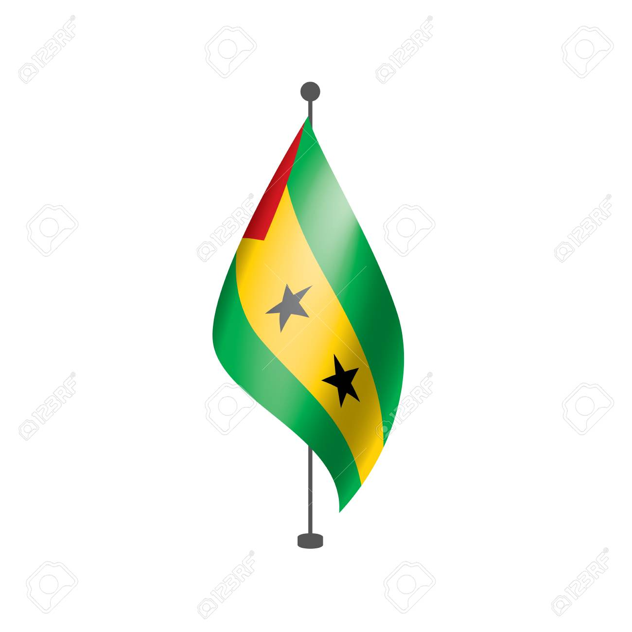 Sao Tome and Principe national flag, vector illustration on a white background - 112057846
