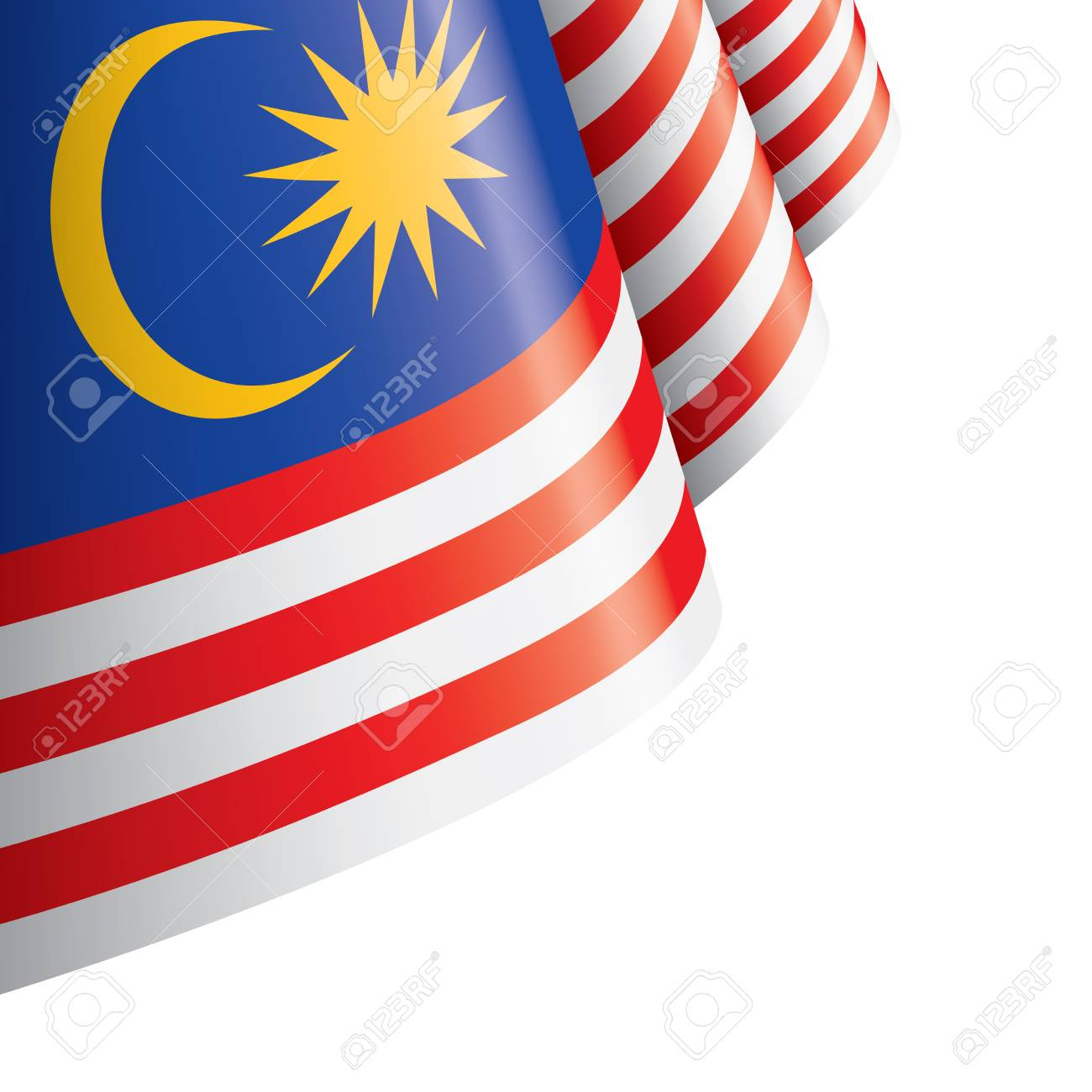Malaysia flag, vector illustration on a white background - 109116501