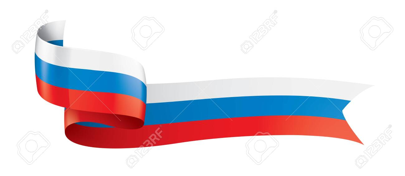 Russia flag, vector illustration on a white background. - 122595312