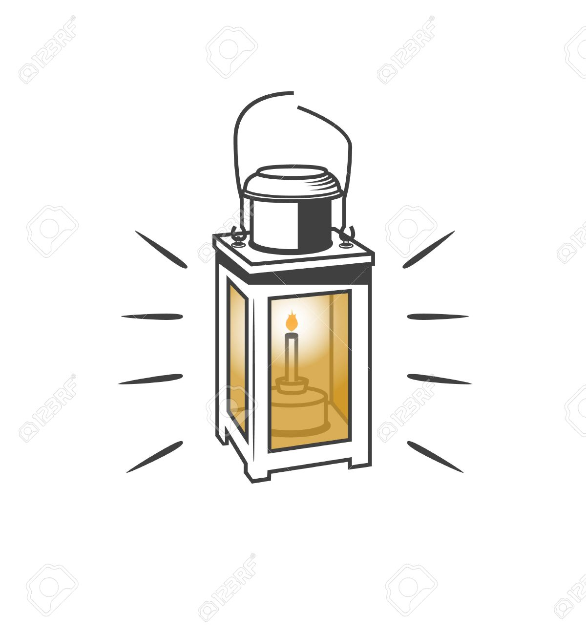 Old Lamp Clipart: Vector for Old Lamp Clipart  103wja