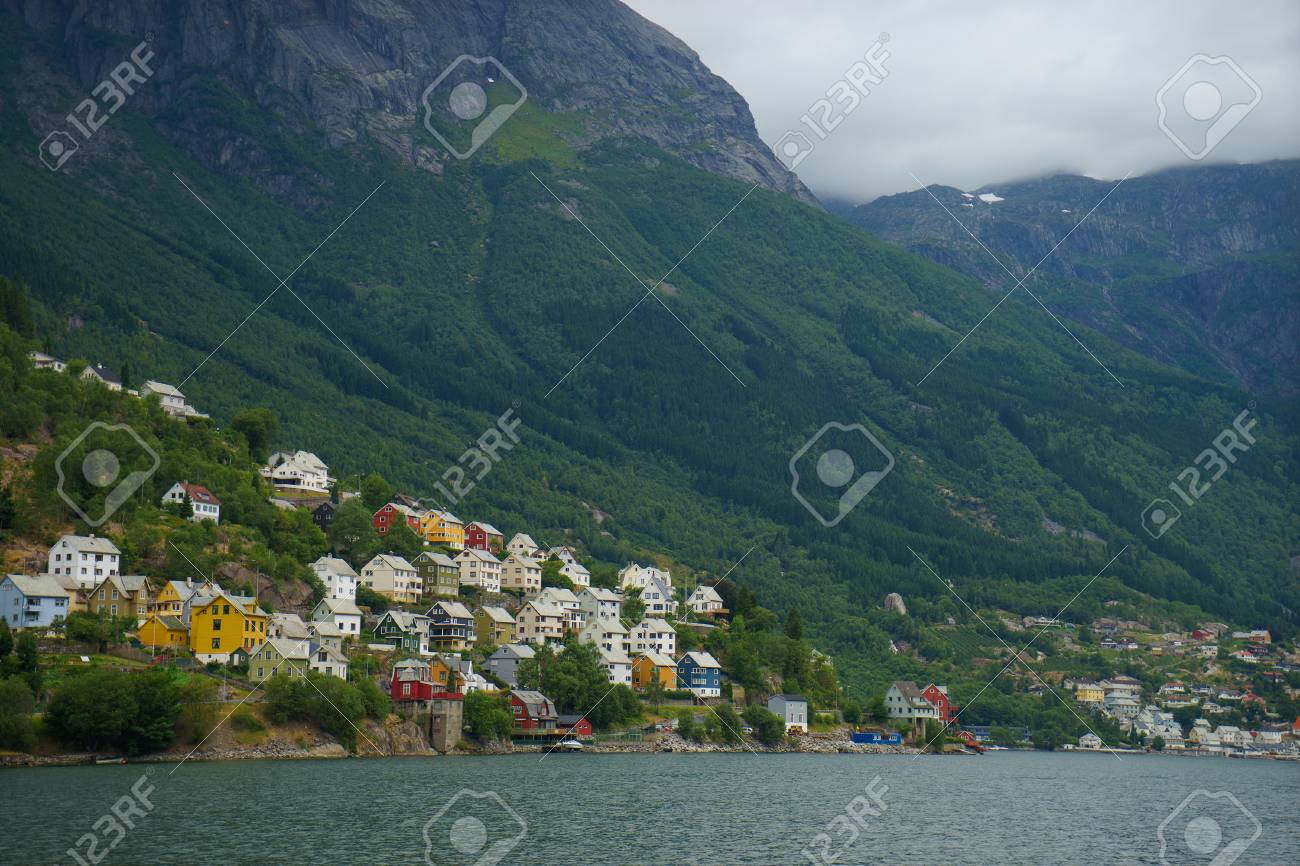 Beautiful Norwegian Landscape With Fjord In Odda Tourist Places