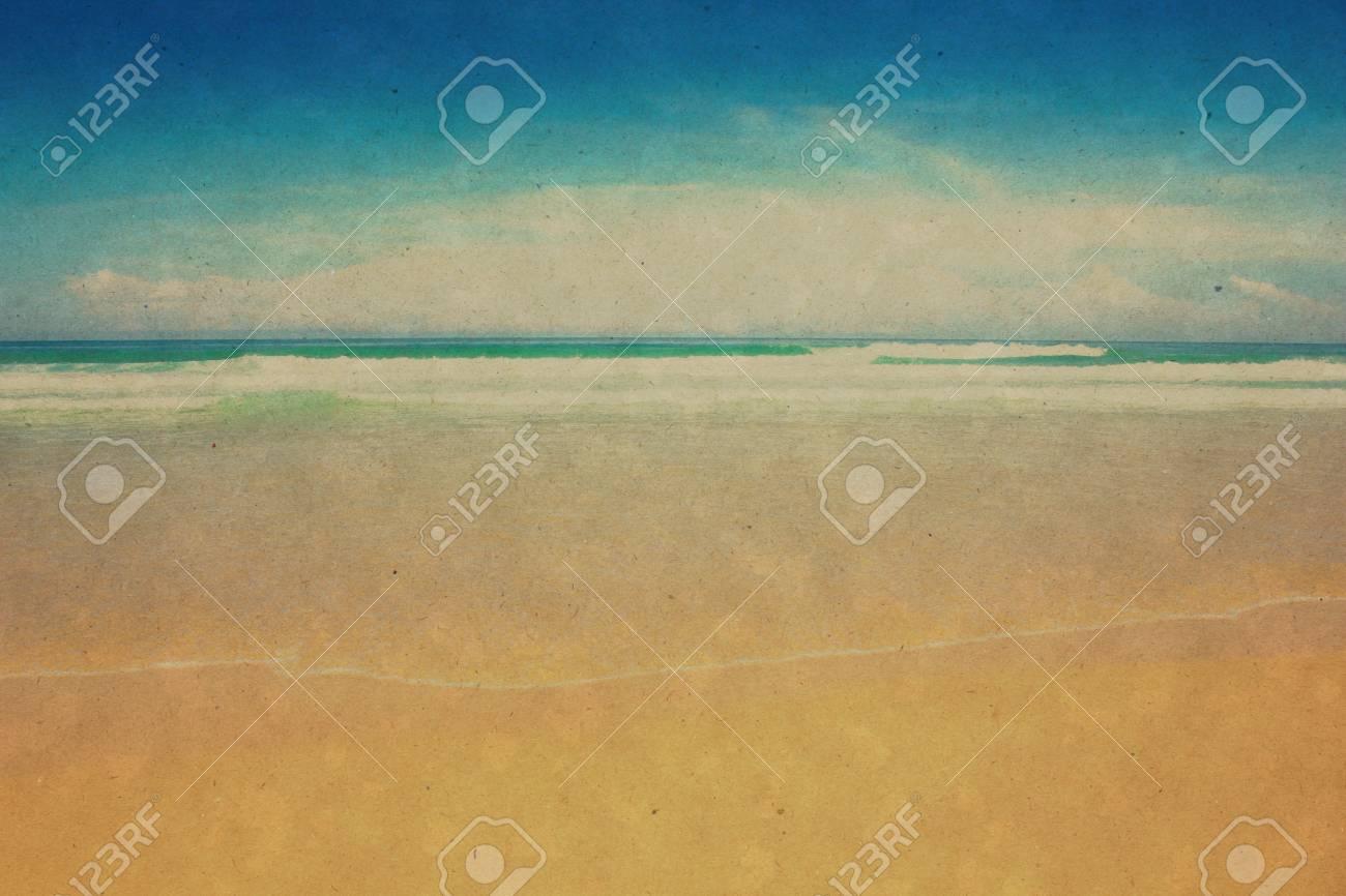 Retro beach and blue sky for background Stock Photo - 17969608