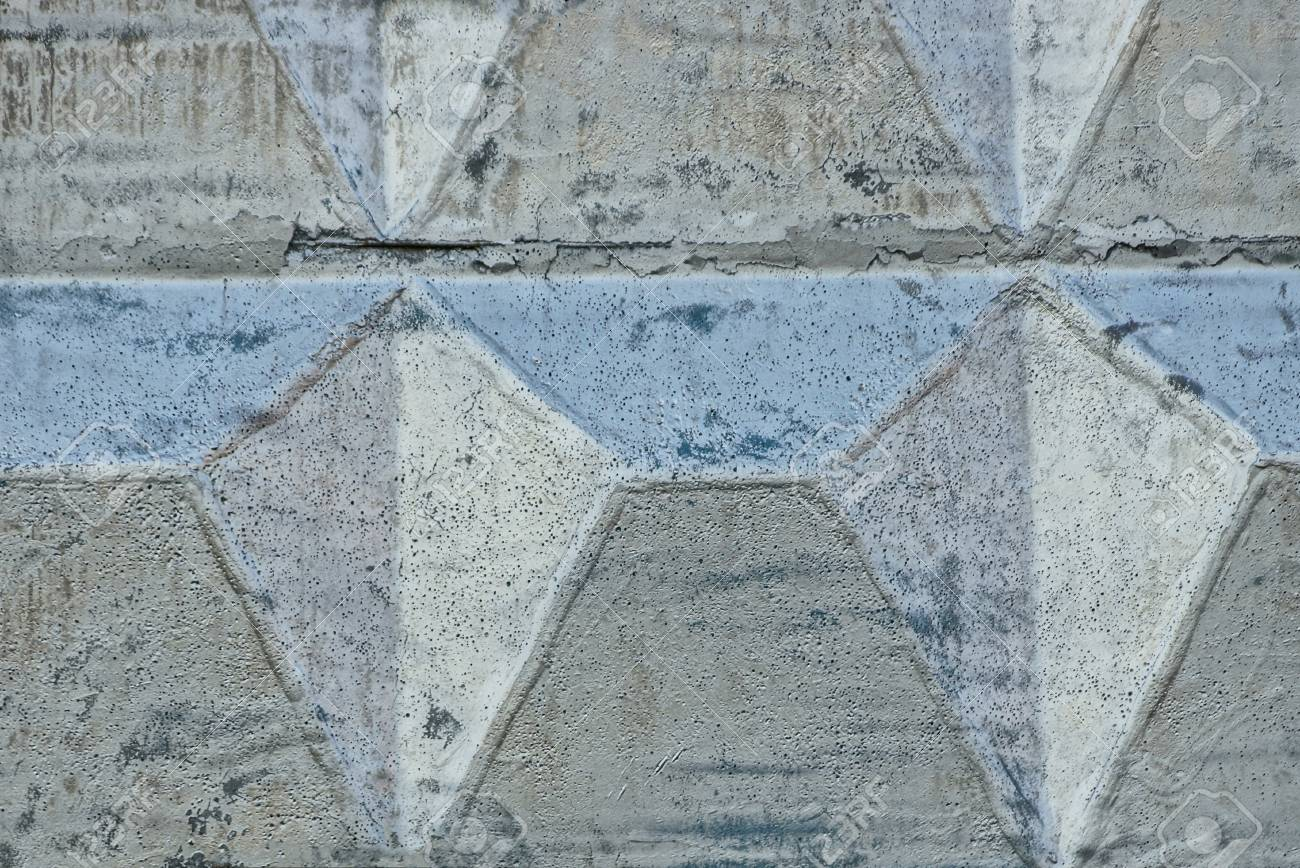 Gray stone texture of a concrete wall painted with silver paint - 105994967