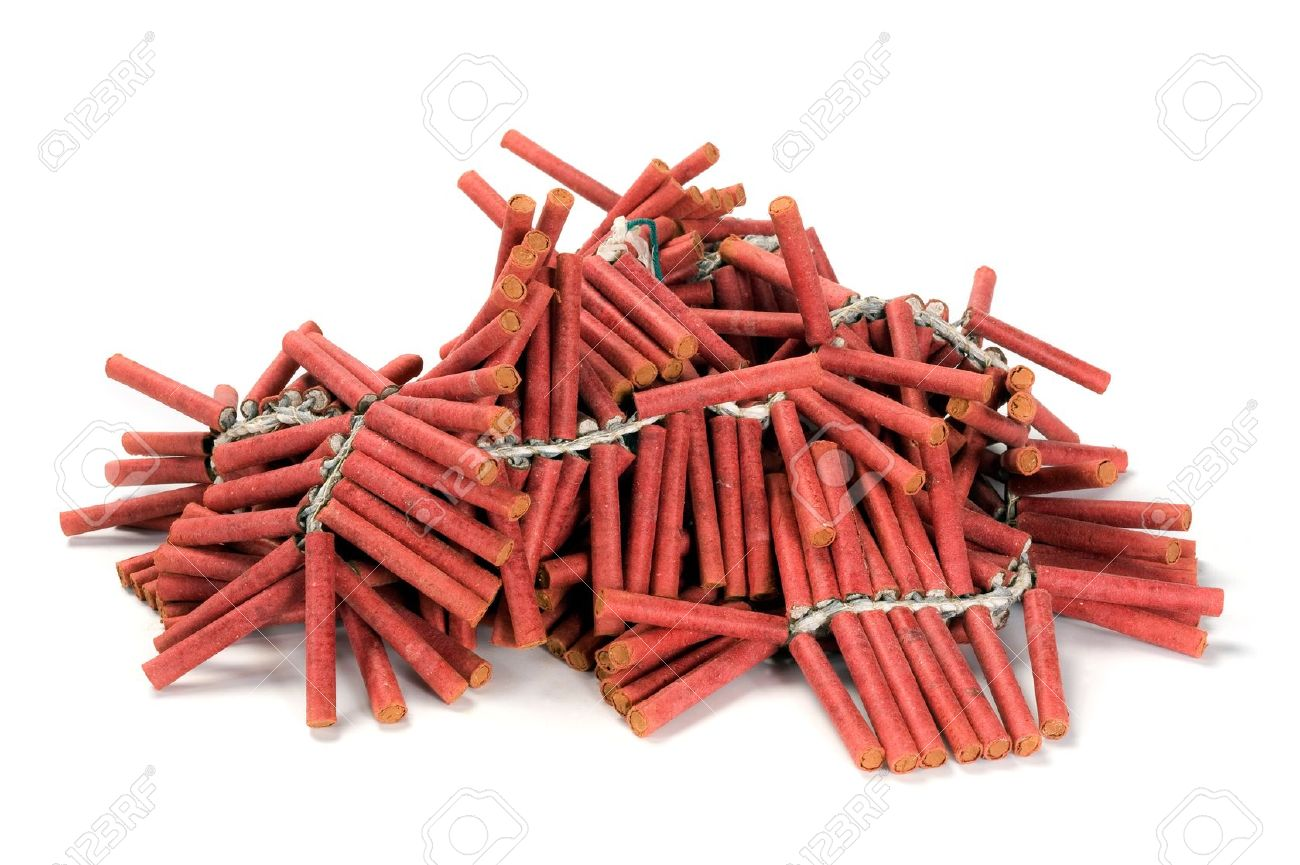A bunch af red firecrackers Stock Photo - 11893900
