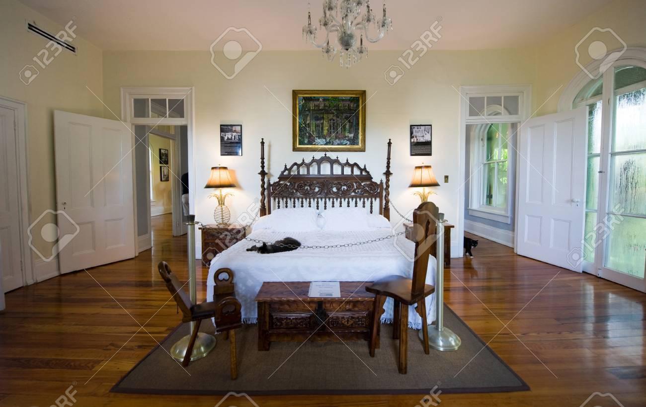 Key West Floride Etats Unis 3 Mai 2016 Chambre A Coucher D Ernest Hemingway A La Chambre Hemingway A Key West En Floride