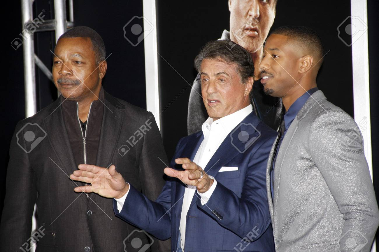 Alivio informal artículo  Michael B. Jordan, Sylvester Stallone And Carl Weathers At The.. Stock  Photo, Picture And Royalty Free Image. Image 51218355.