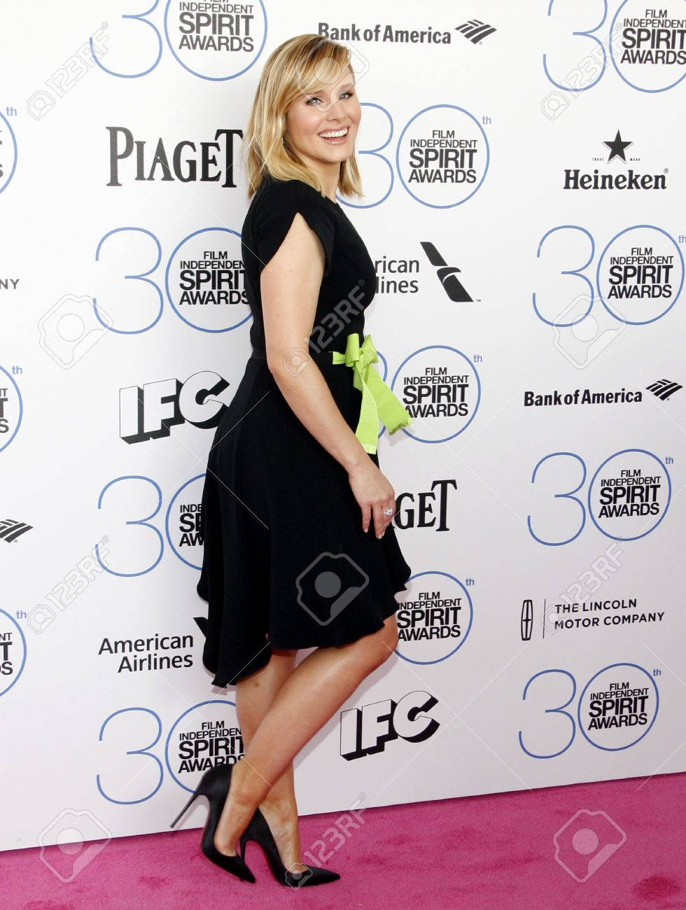Kristen Bell At The 2015 Film Independent Spirit Awards Held.. Stock Photo,  Picture And Royalty Free Image. Image 53568590.