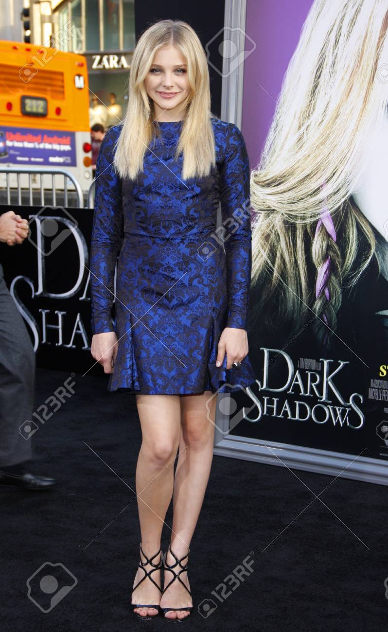 Chloe Grace Moretz at the Los Angeles premiere of 'Dark Shadows'