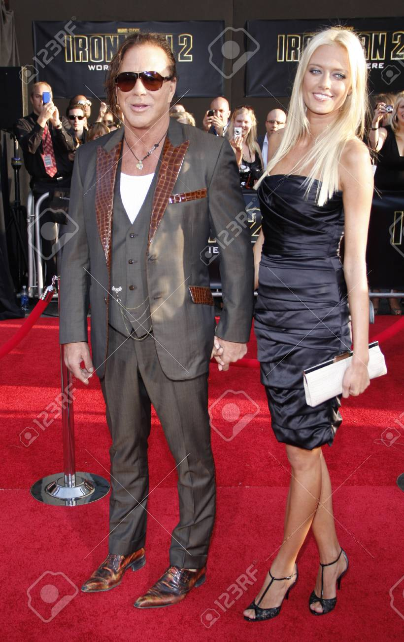 Mickey Rourke And Anastassija Makarenko At The Los Angeles Premiere Stock Photo Picture And Royalty Free Image Image 55769142 Eric roberts and mickey rourke complimenting each other. https www 123rf com photo 55769142 mickey rourke and anastassija makarenko at the los angeles premiere of iron man 2 held at the el cap html