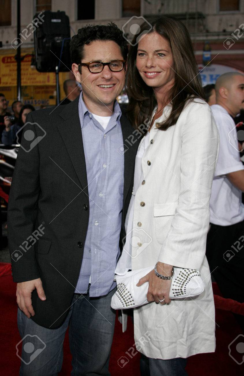 Katie McGrath and J J  Abrams at the Los Angeles fan screening