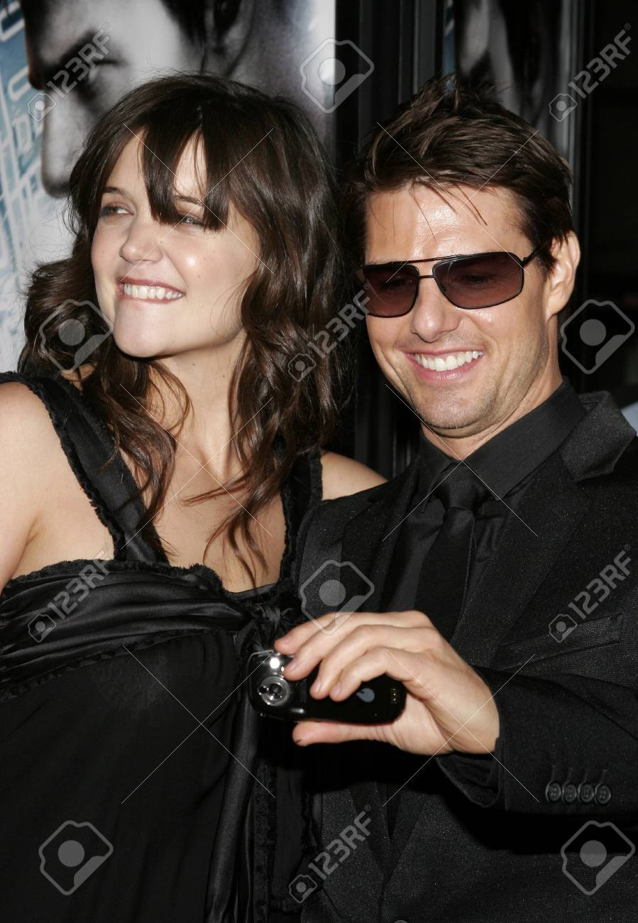 de5fdf791b11 Katie Holmes And Tom Cruise At The Los Angeles Fan Screening.. Stock ...