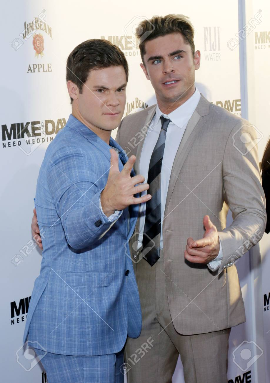 Adam Devine And Zac Efron At The Los Angeles Premiere Of Mike