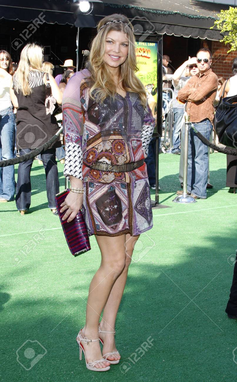 Fergie at the Los Angeles premiere of