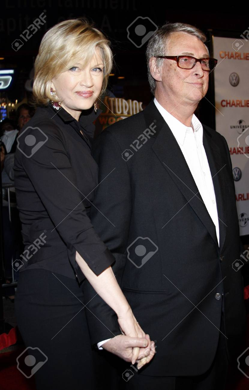 Diane Sawyer And Mike Nichols At The World Premiere Of