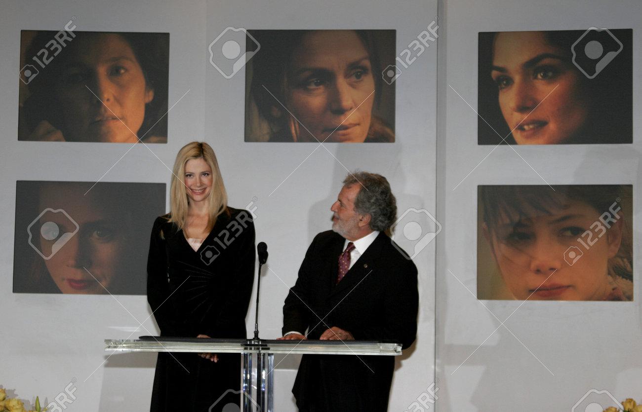 Oscar Winner Mira Sorvino And Academy President Sid Ganis At The 78th Annual Awards