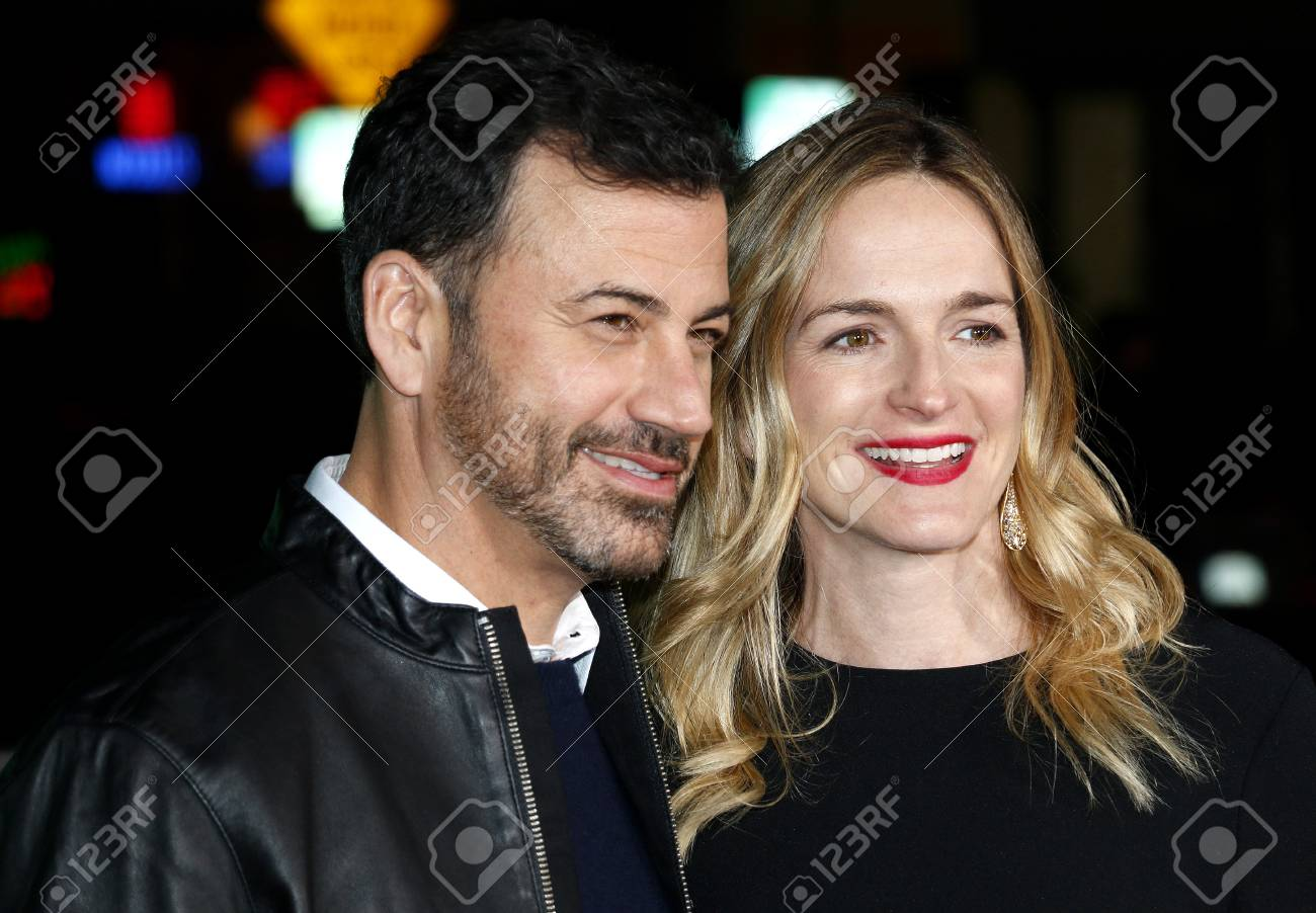 Jimmy Kimmel And Molly McNearney At The Los Angeles Premiere.. Stock ...
