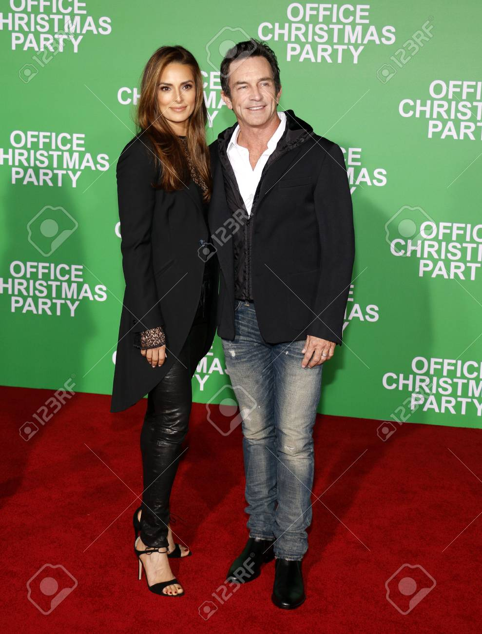 Jeff Probst And Lisa Ann Russell At The Los Angeles Premiere.. Stock ...