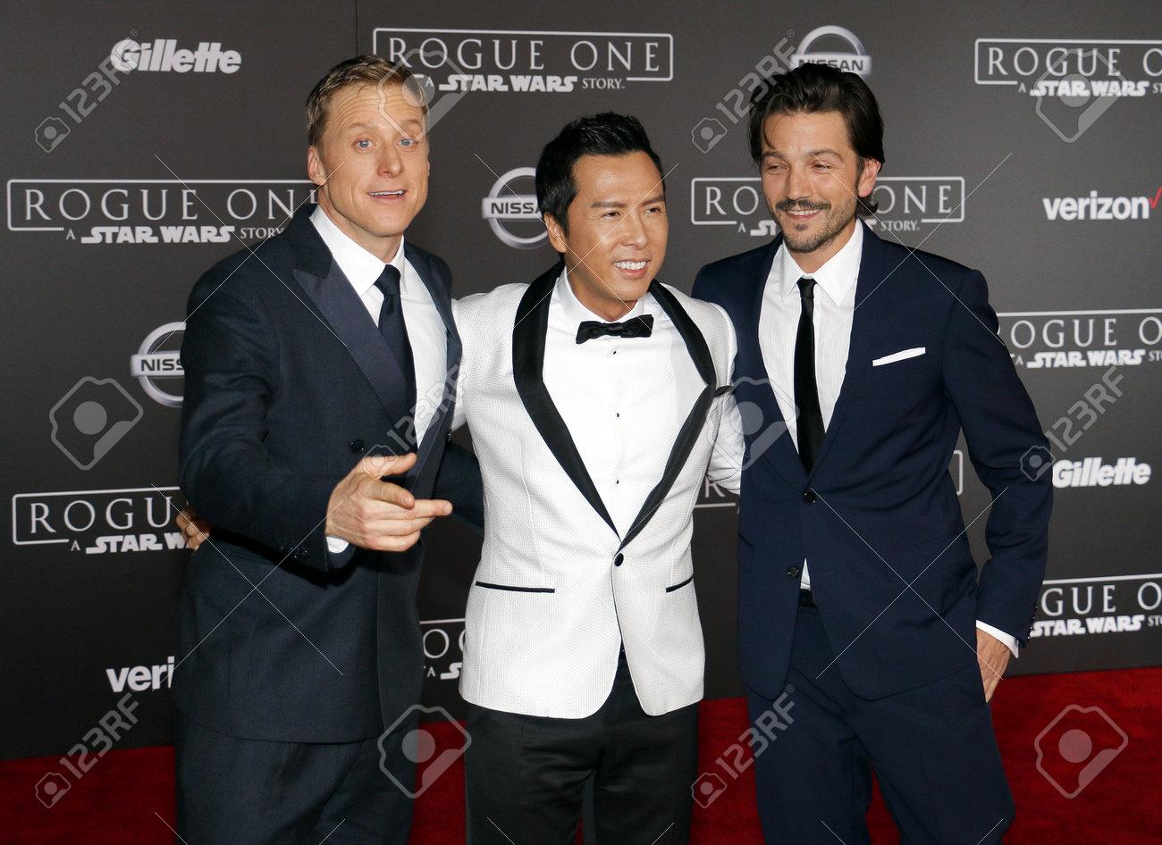 Alan Tudyk, Donnie Yen and Diego Luna at the World premiere of..