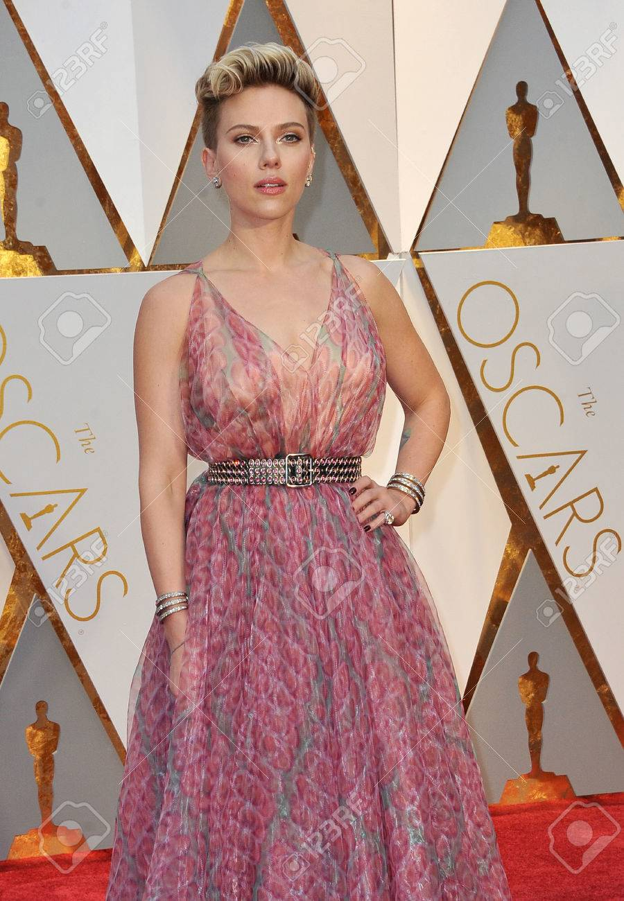 Scarlett Johansson At The 89th Annual Academy Awards Held At Stock Photo Picture And Royalty Free Image Image 73238304