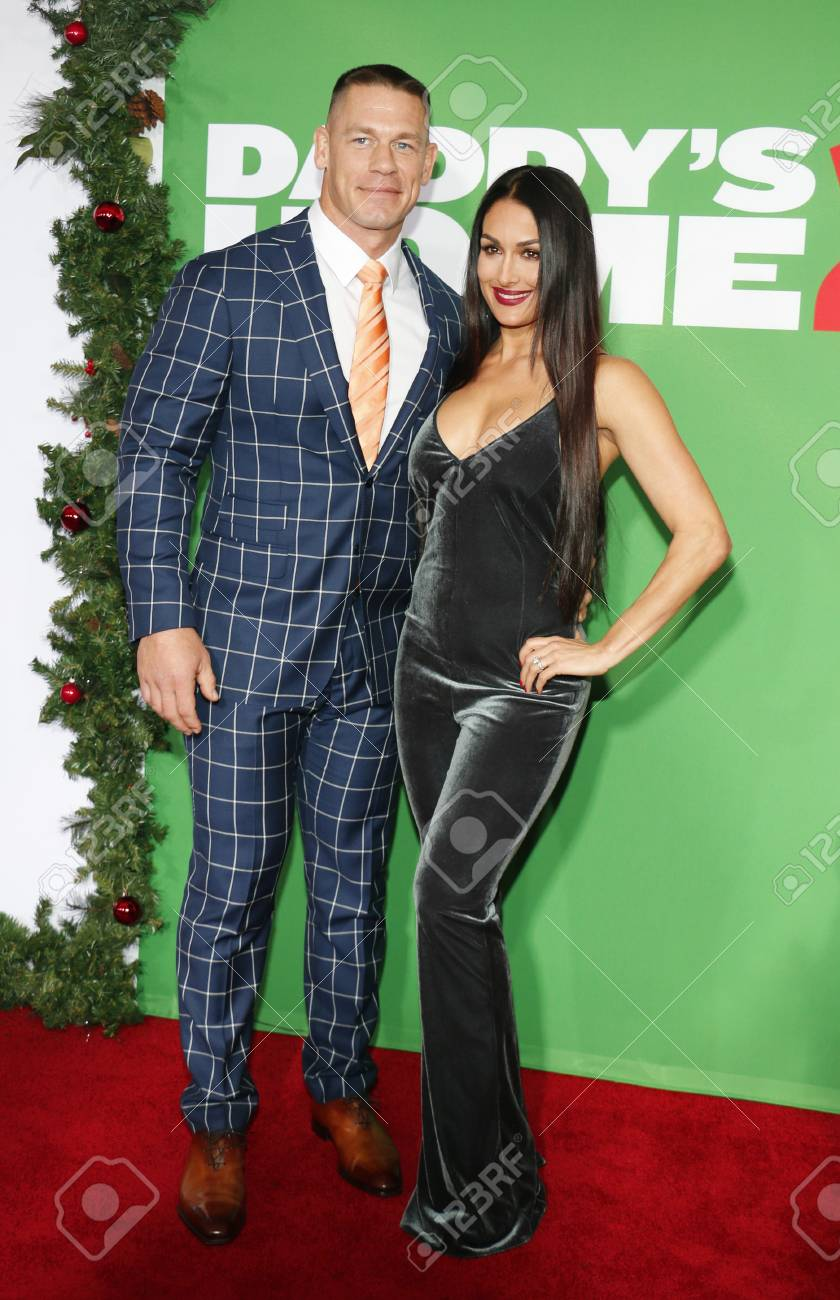John Cena And Nikki Bella At The Los Angeles Premiere Of \'Daddy\'s ...
