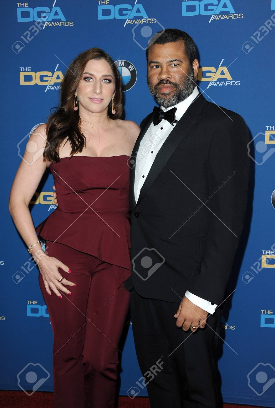 Jordan Peele and Chelsea Peretti at the 70th Annual Directors Guild Of America Awards held at the Beverly Hilton Hotel in Beverly Hills, USA on February 3, 2018. - 95270123